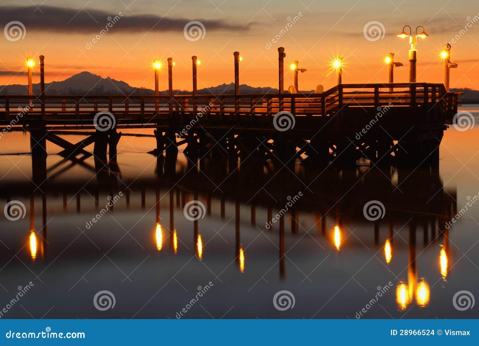 Jutrzenkowy połowu molo, Fraser rzeka