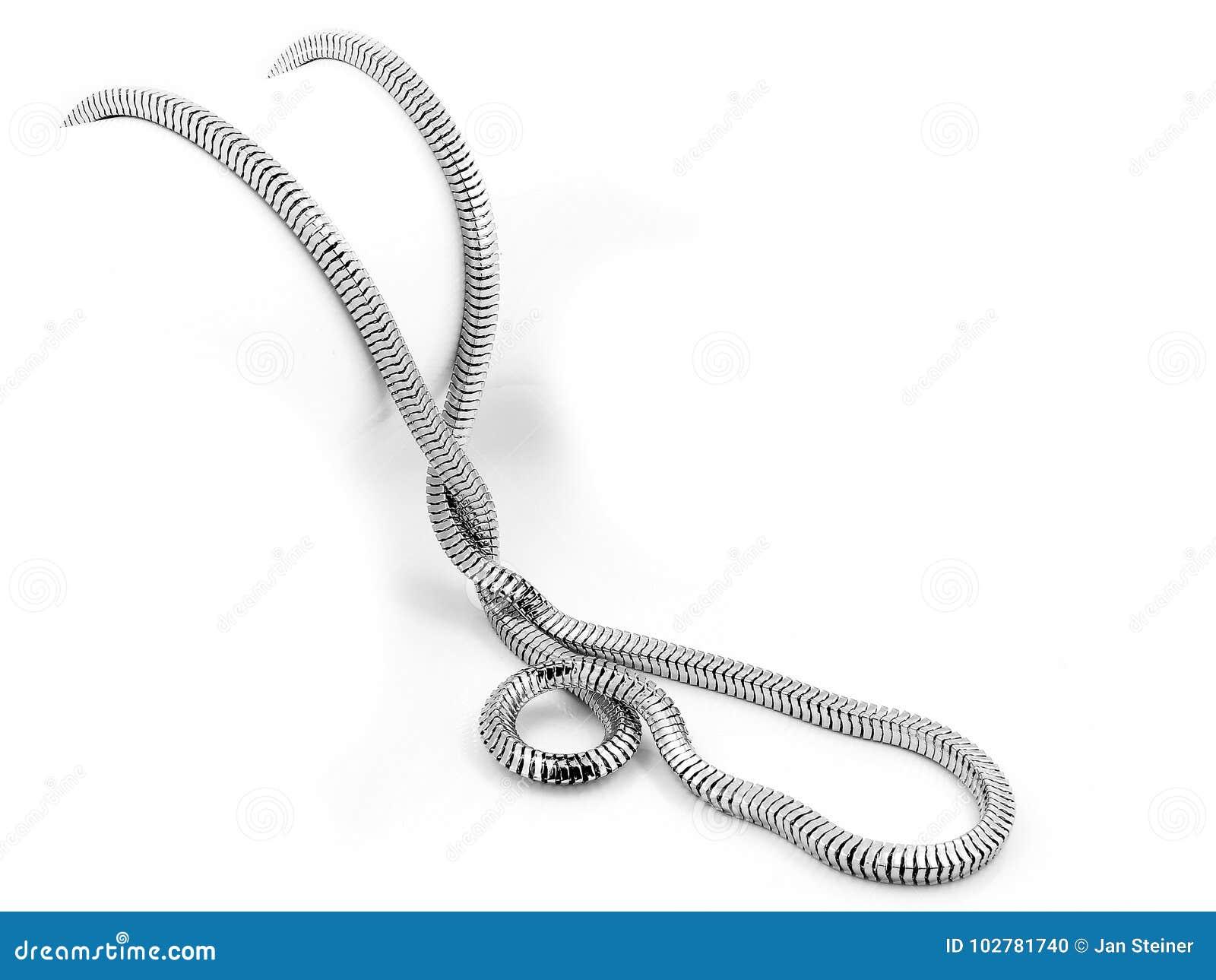Juwel-Halskette - Edelstahl