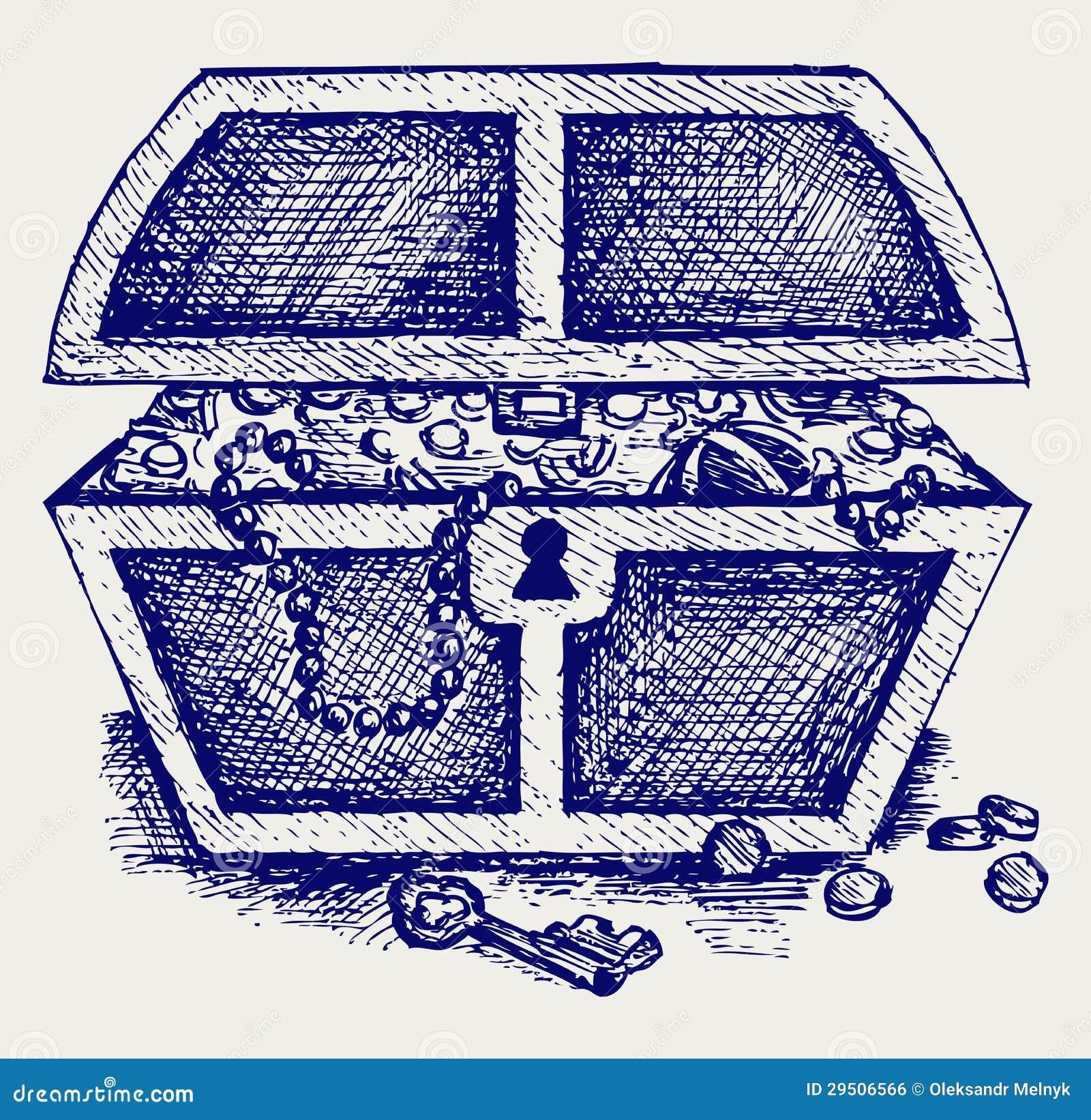 Juwelen en een doos
