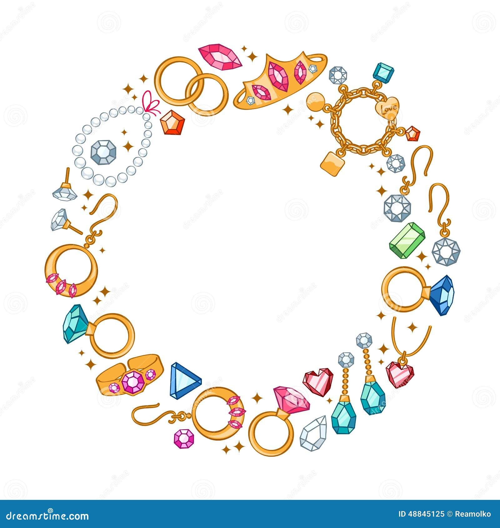 Juwelenpunten om kaderachtergrond