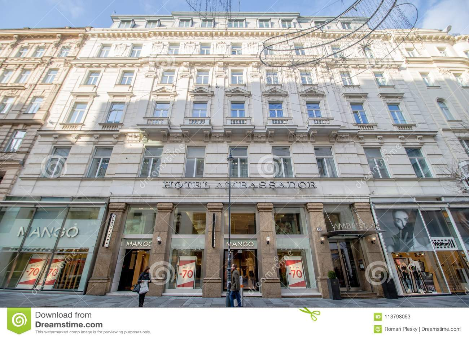 Kärntner Straße Carinthian Street In Vienna Austria Editorial