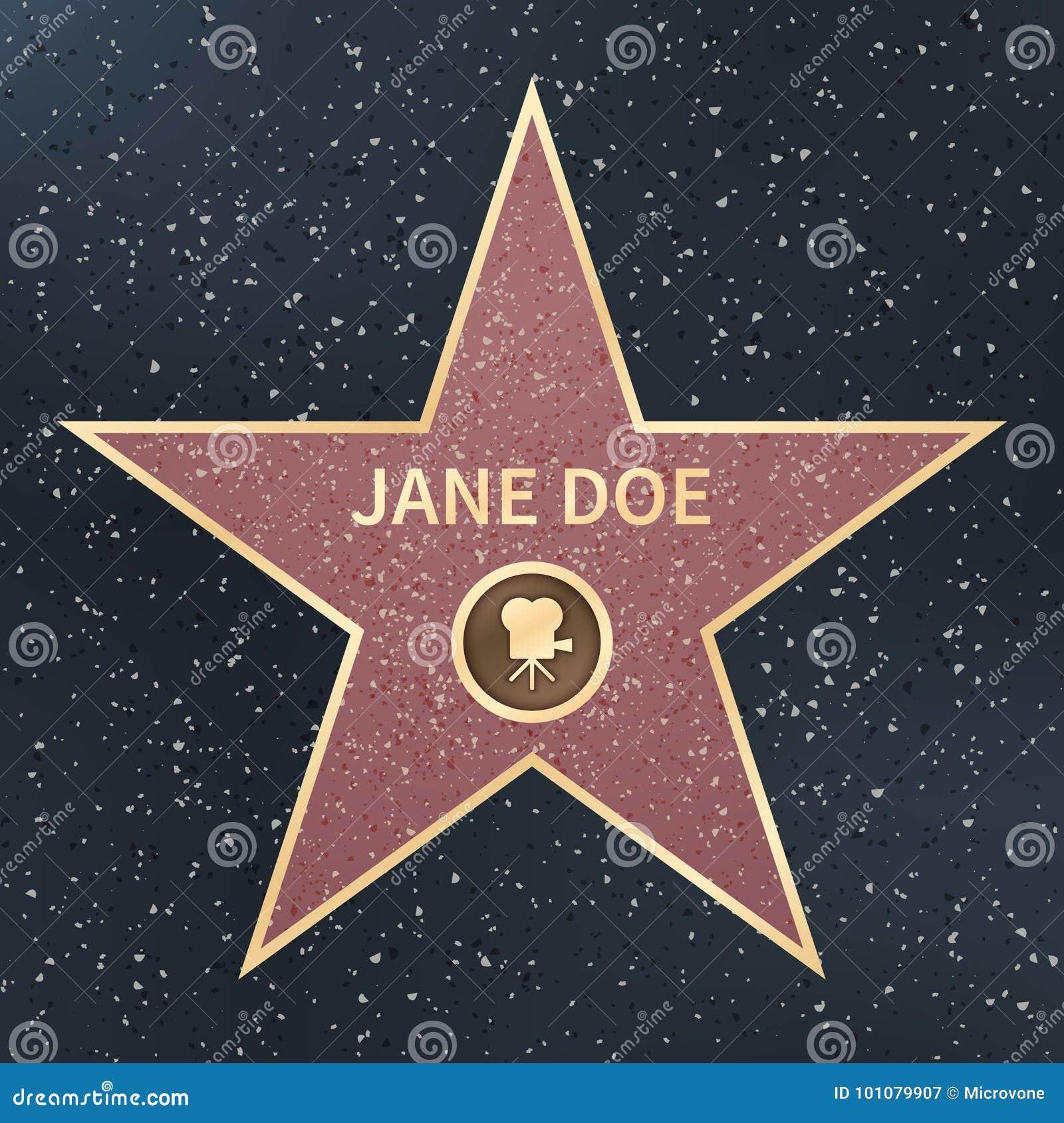 Kändisen för den Hollywood filmskådespelaren går av berömmelsestjärnan också vektor för coreldrawillustration