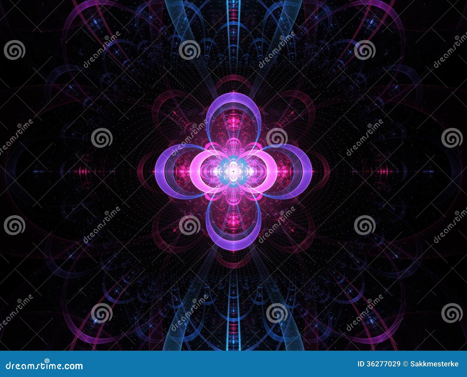 Kärn- för abstrakt begreppfractal för kall fusion bakgrund