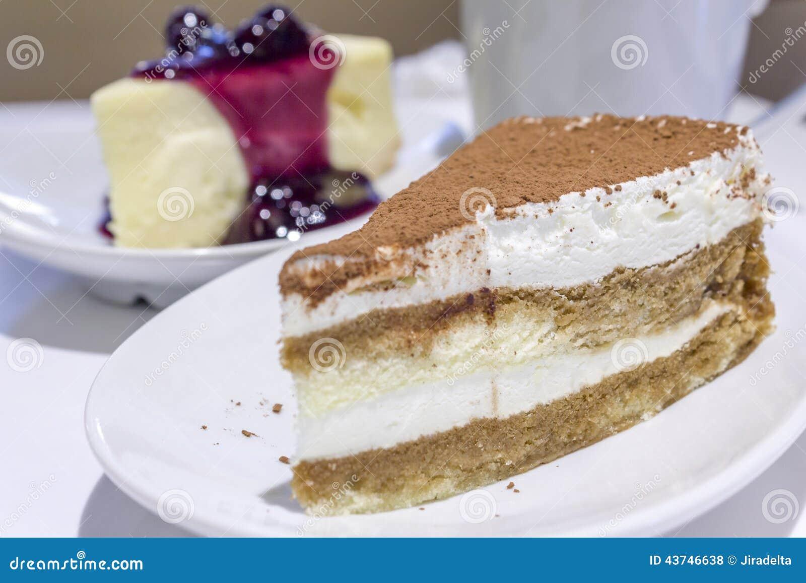 Käse-Creme-Kuchen-Kakao-Belag Stockfoto - Bild von herrlich, süß ...