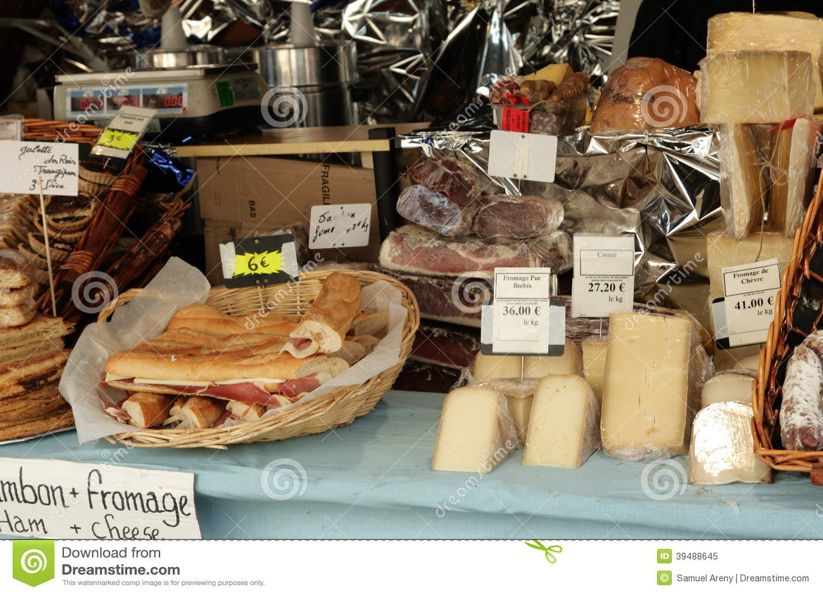 Käsemarkt in Frankreich