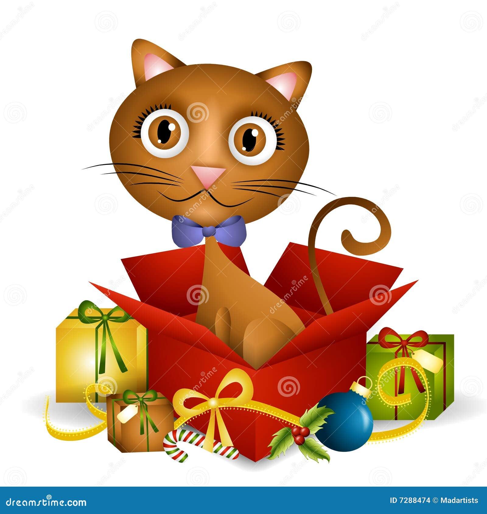 Kätzchen-Weihnachtsgeschenk