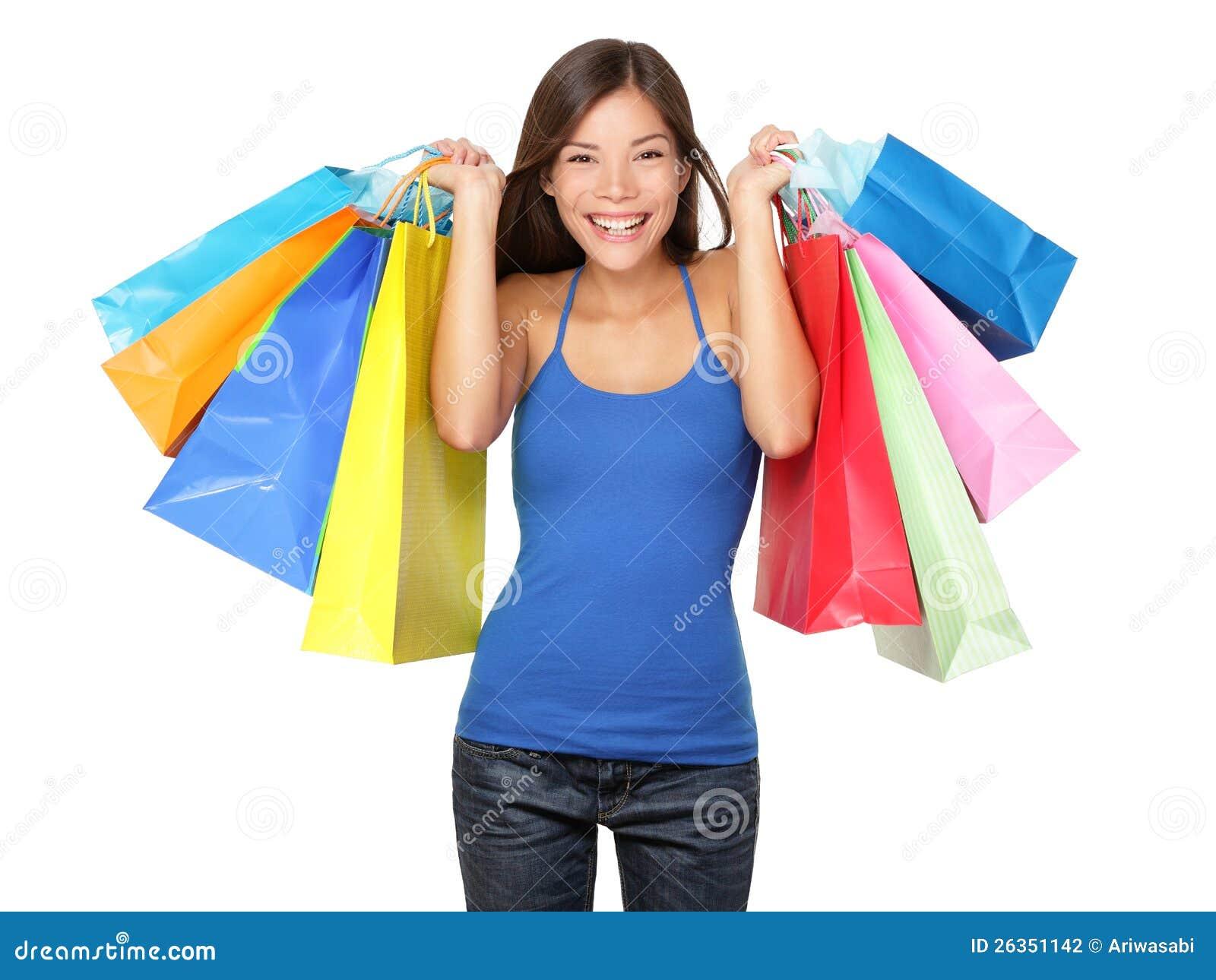 Käuferfrauenholding-Einkaufenbeutel
