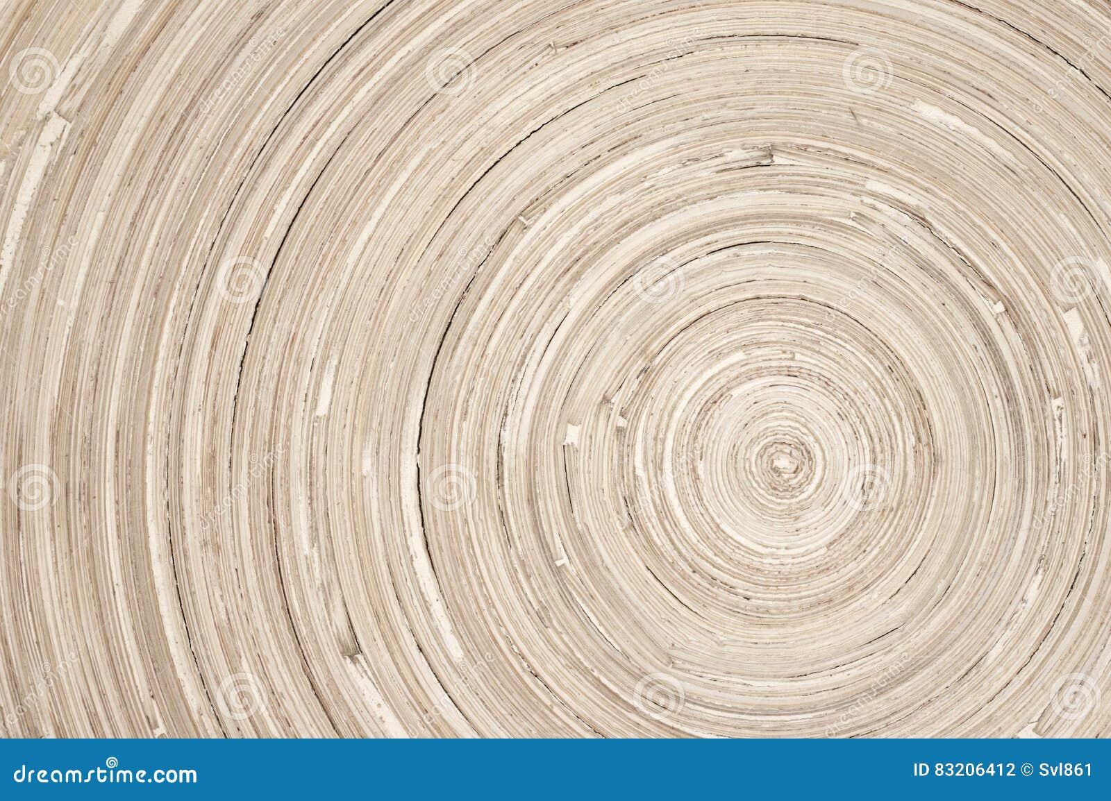 Kółkowa drewniana tekstura