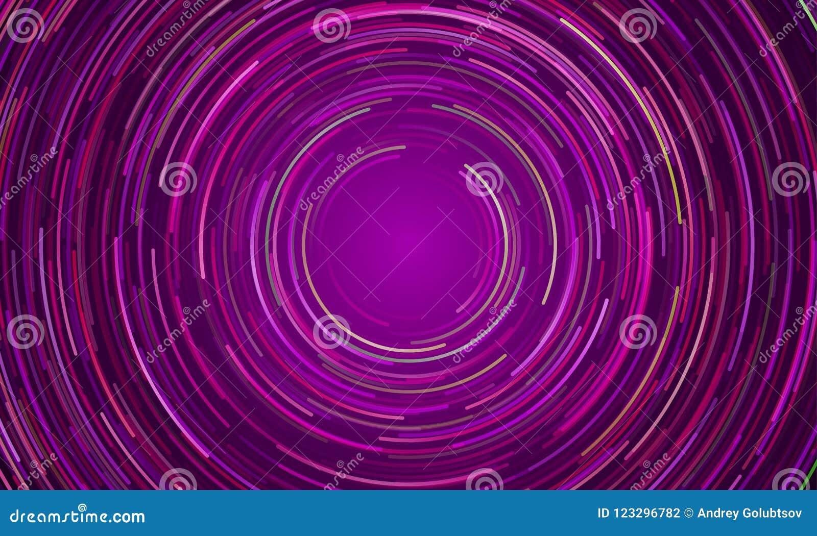 Kółkowy vortex purpur światła ruchu tło