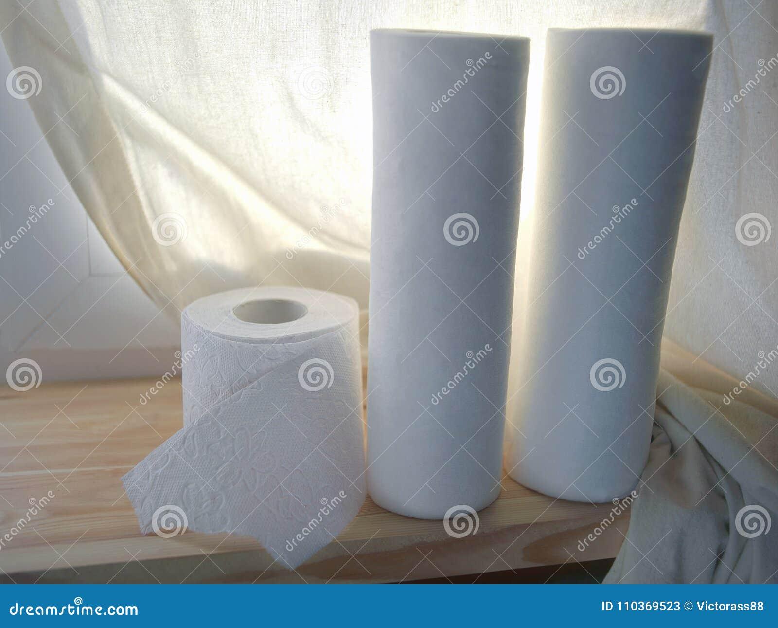 Kökshandduk och Toilette papper