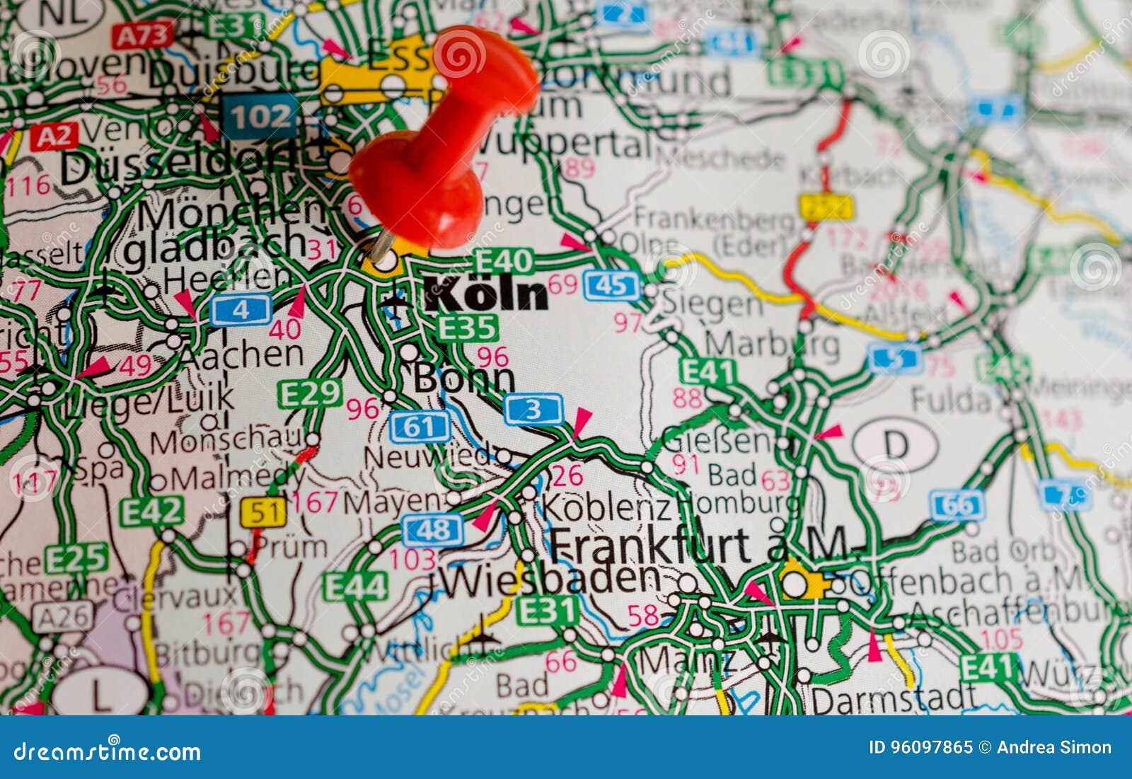 Köln Karte Deutschland.Köln Auf Karte Stockbild Bild Von Köln Seite Schuß 96097865