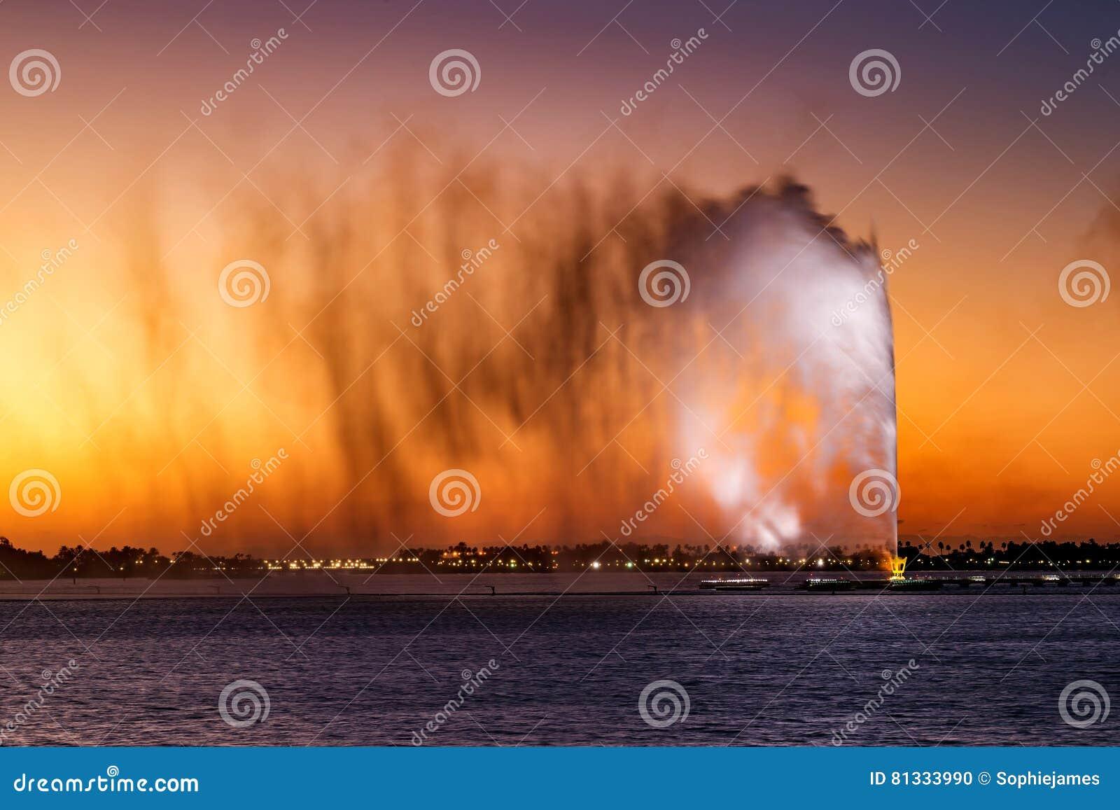 König Fahd ` s Brunnen, alias der Dschidda-Brunnen in Dschidda, Saudi-Arabien