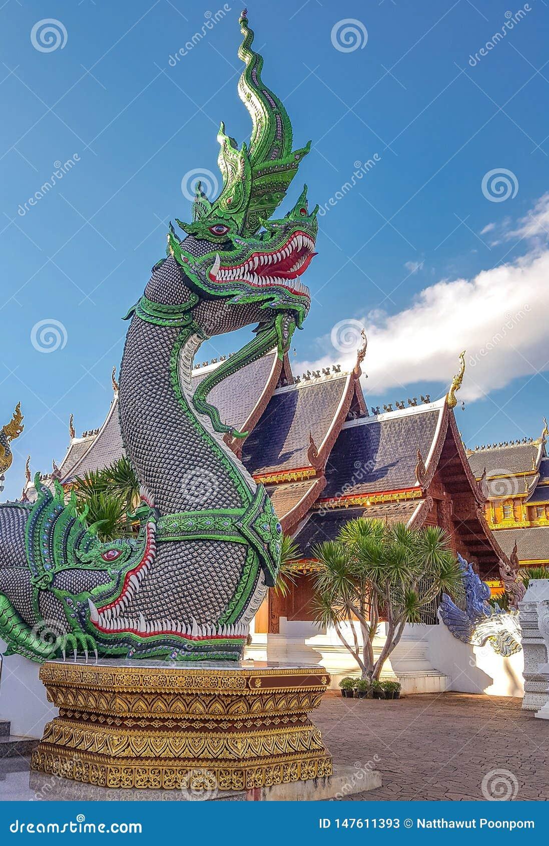 König von Nagas bei Thailand