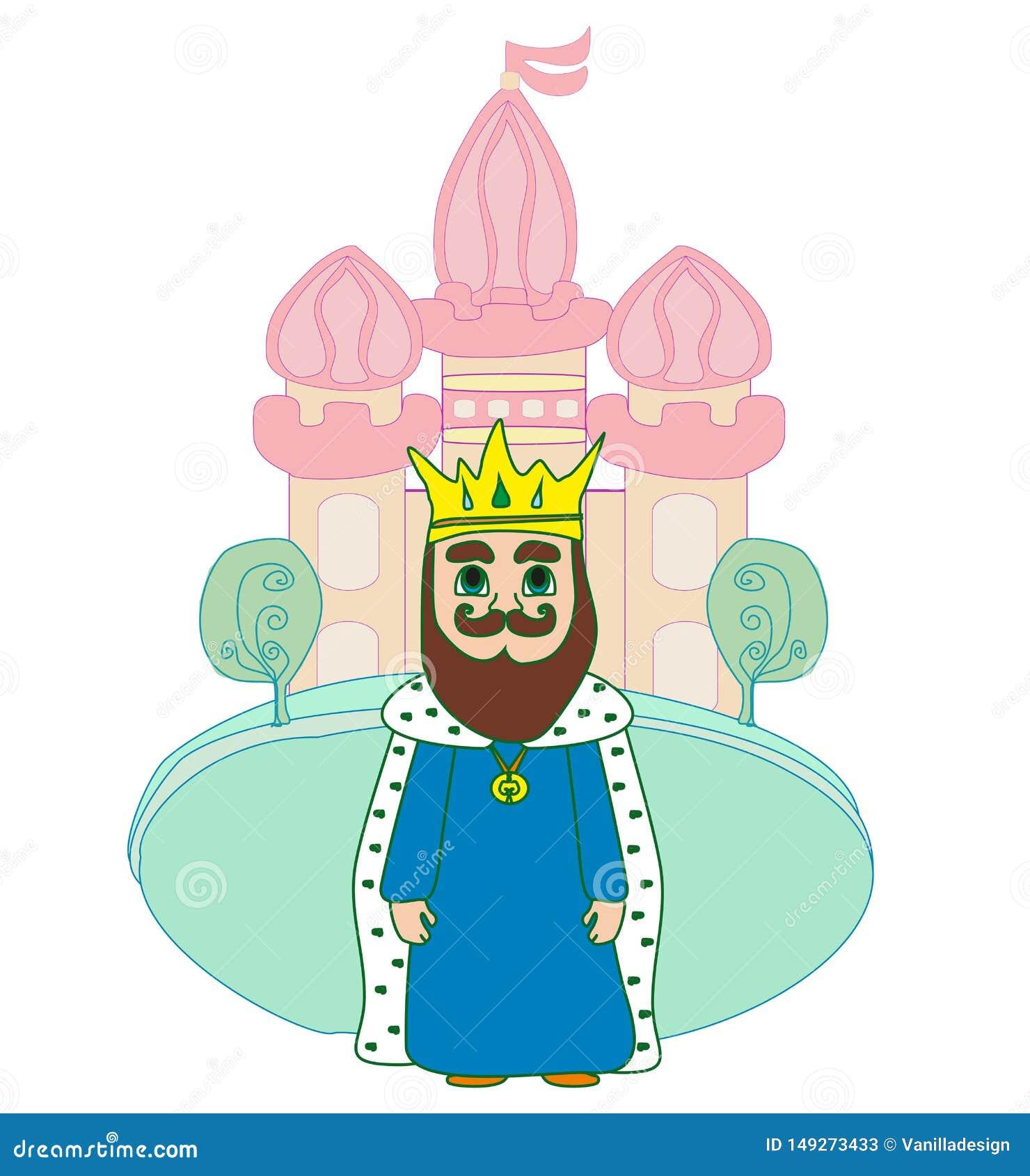König vor Schloss