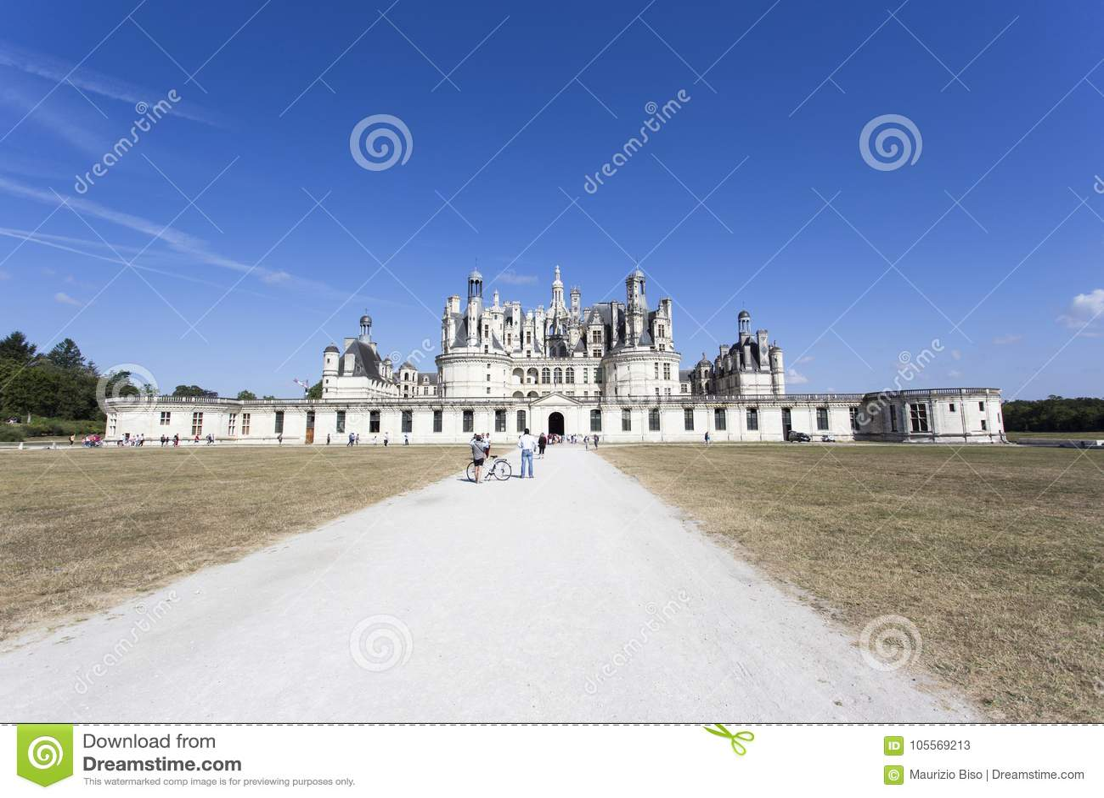 Königliche Chateau de Chambord bei Chambord