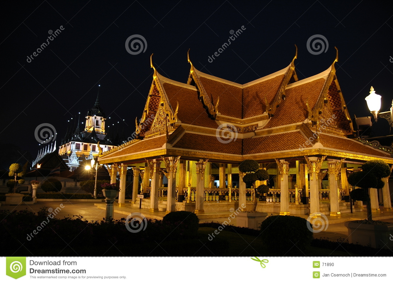 Königliche Gebäude in Bangkok Thailand