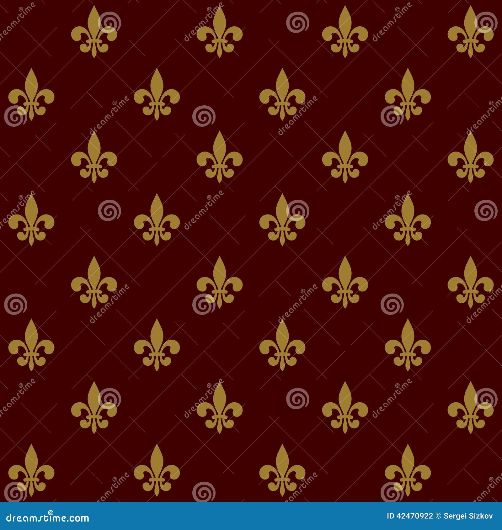 Königliche Lily Fleur de Lis Seamless Pattern Vektor