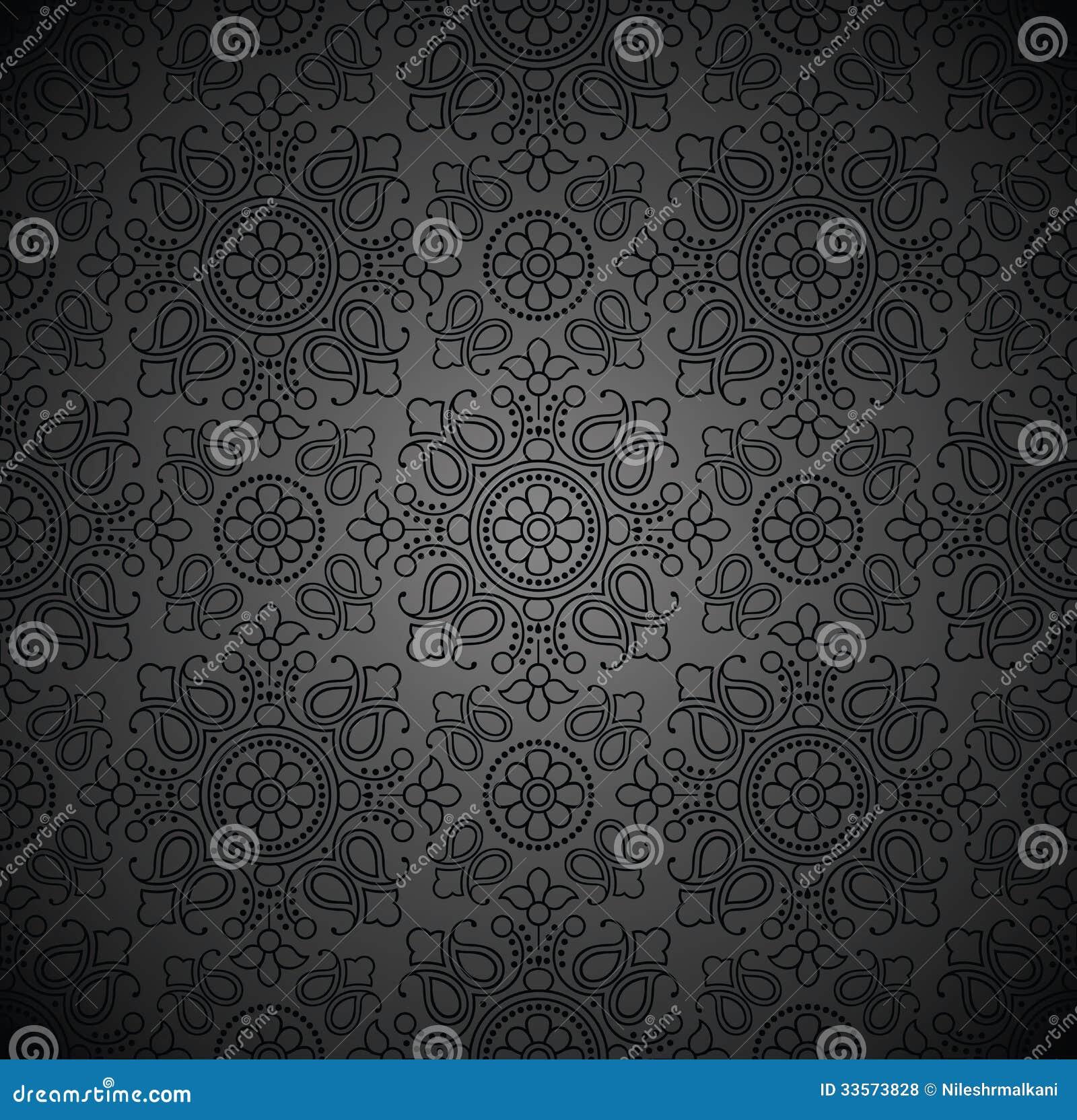 Königliche Nahtlose Dunkle Tapete Vektor Abbildung Illustration