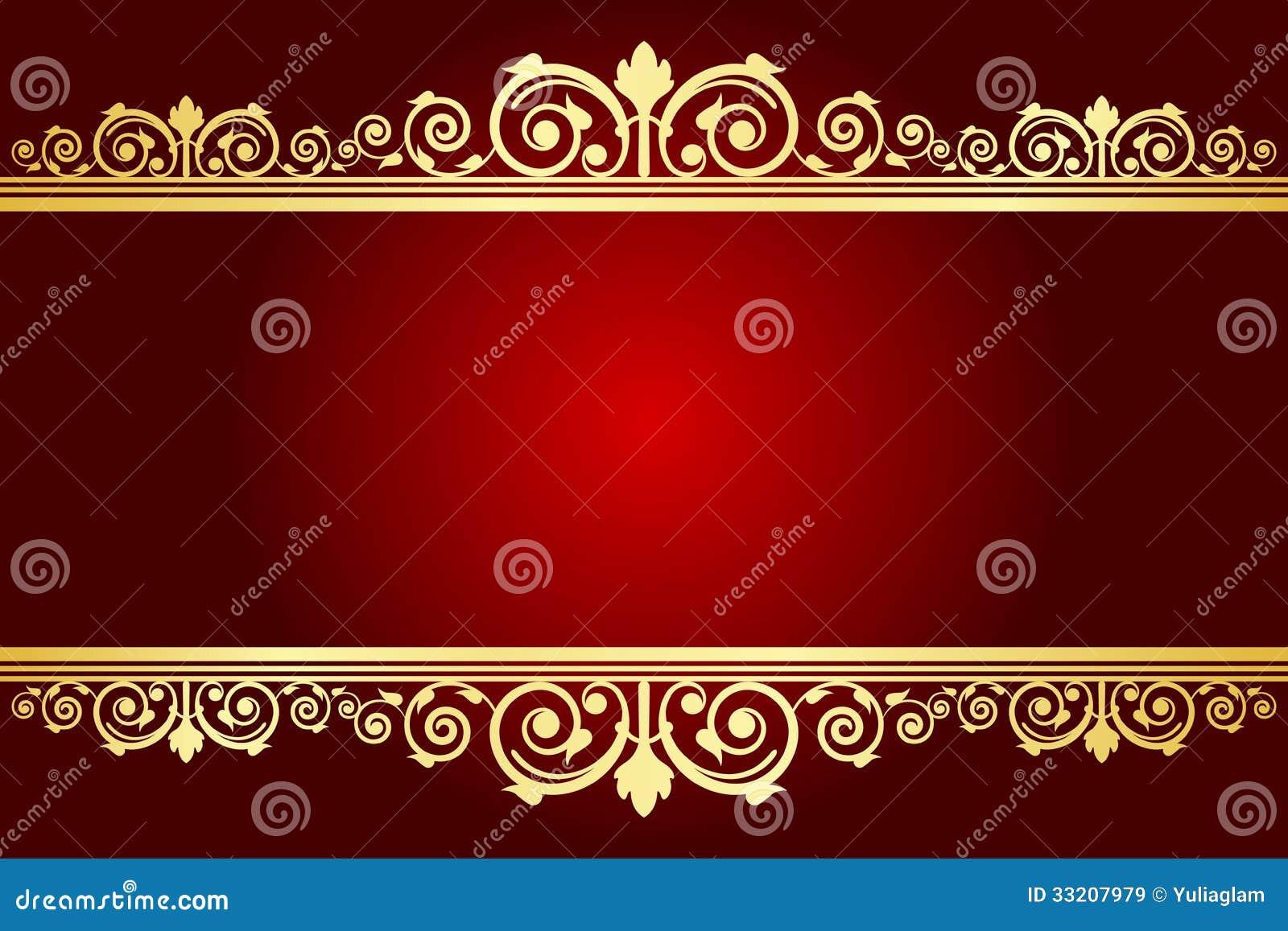 Königlicher Hintergrund Mit Verziertem Rahmen Vektor Abbildung ...