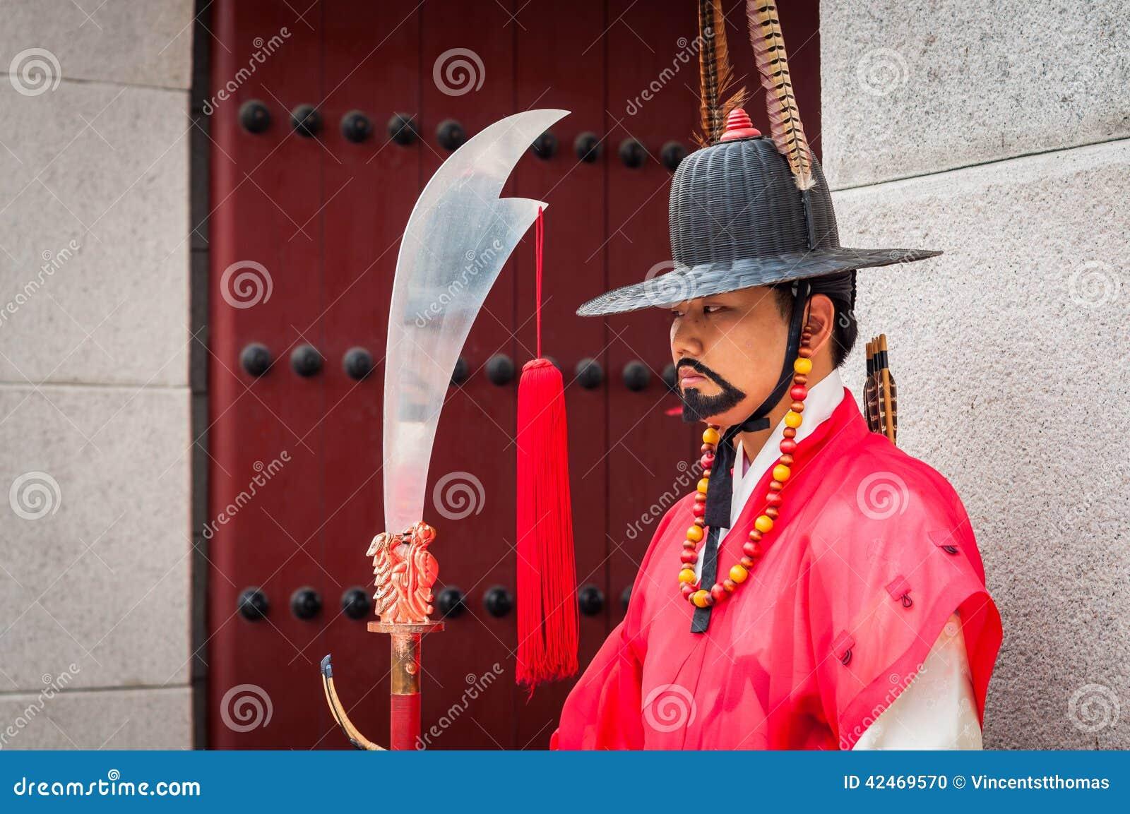 Königlicher Schutz an Gyeongbokgungs-Palast
