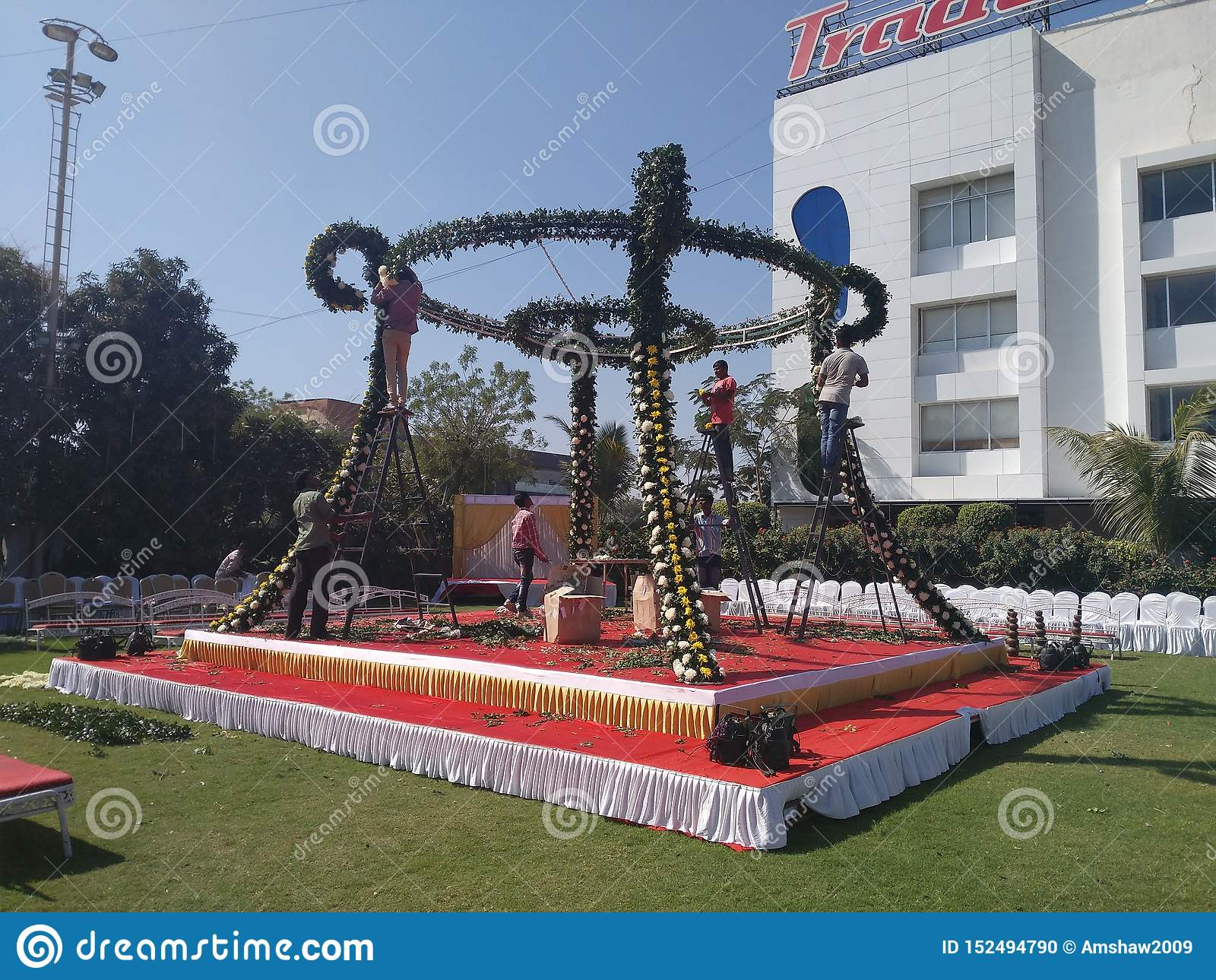 Königliches Indien-Bankett Hall/Heirat-Hall-Hochzeitsbestimmungsort in Indien