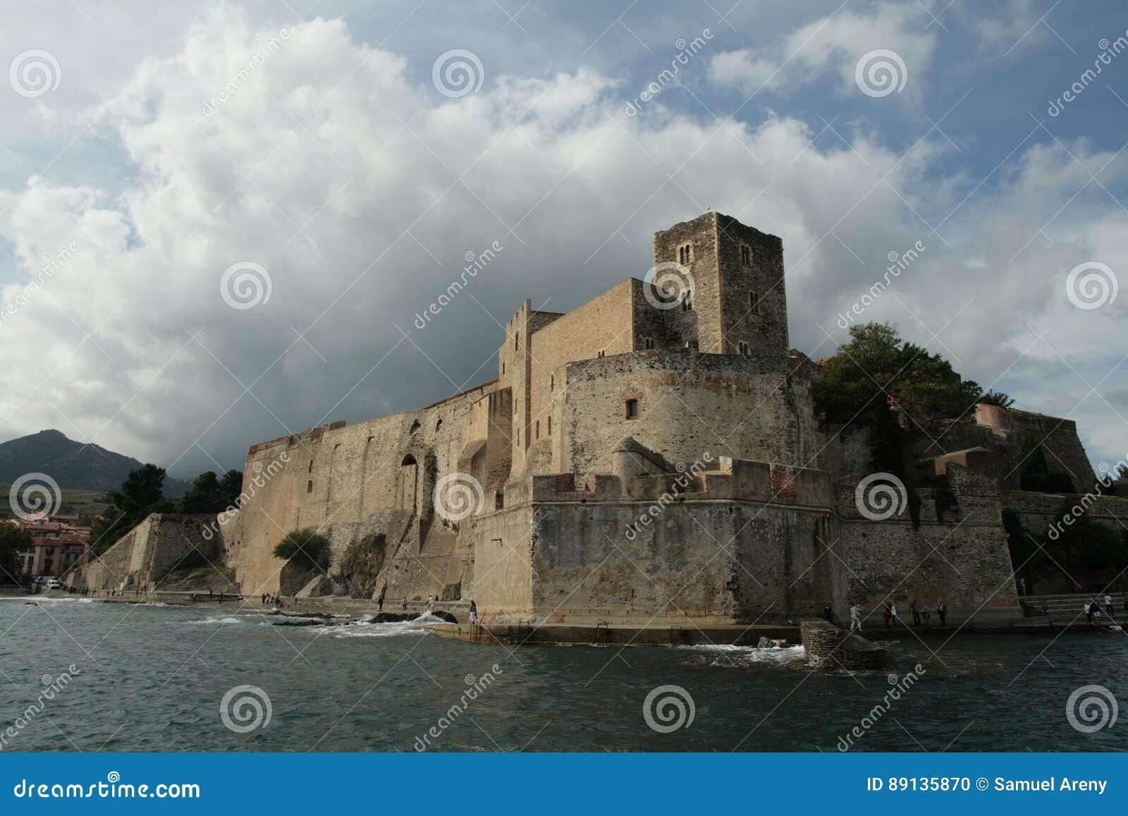 Königliches Schloss von Collioure in Pyrenäen-orientales, Frankreich