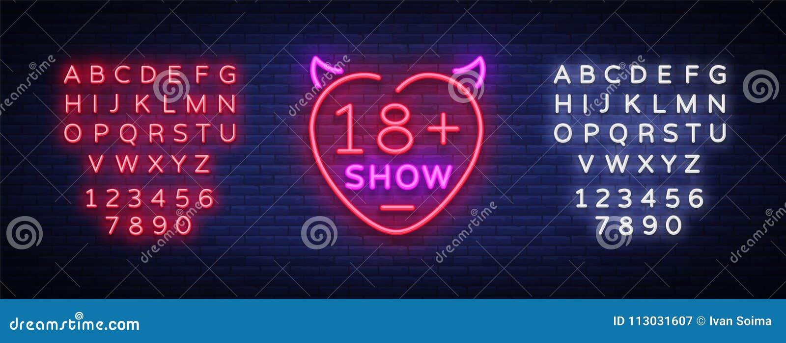 Könsbestämma showneontecknet Det ljusa nattbanret i neonstil, neonaffischtavlor för annonsering könsbestämmer shower, sexshopen,