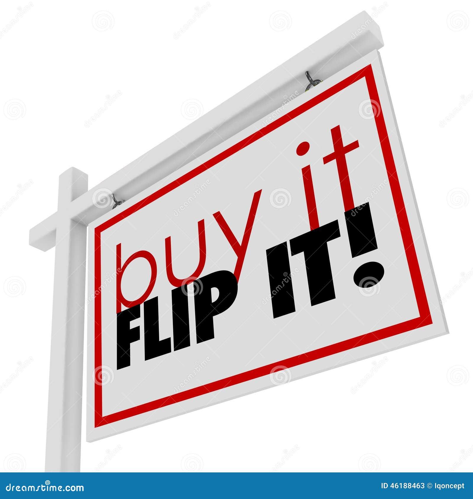 Köp det Flip It Words Home House som till salu Real Estate undertecknar