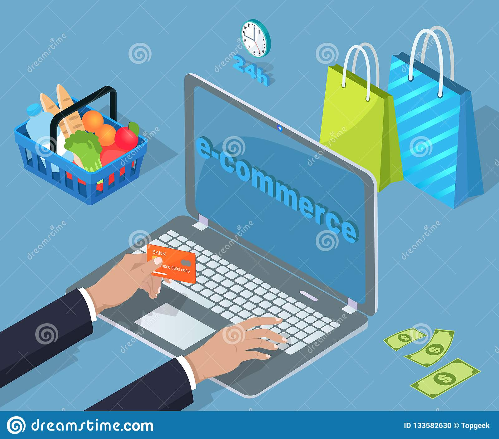 Köp för elektronisk kommers och försäljningstecknad filmbaner