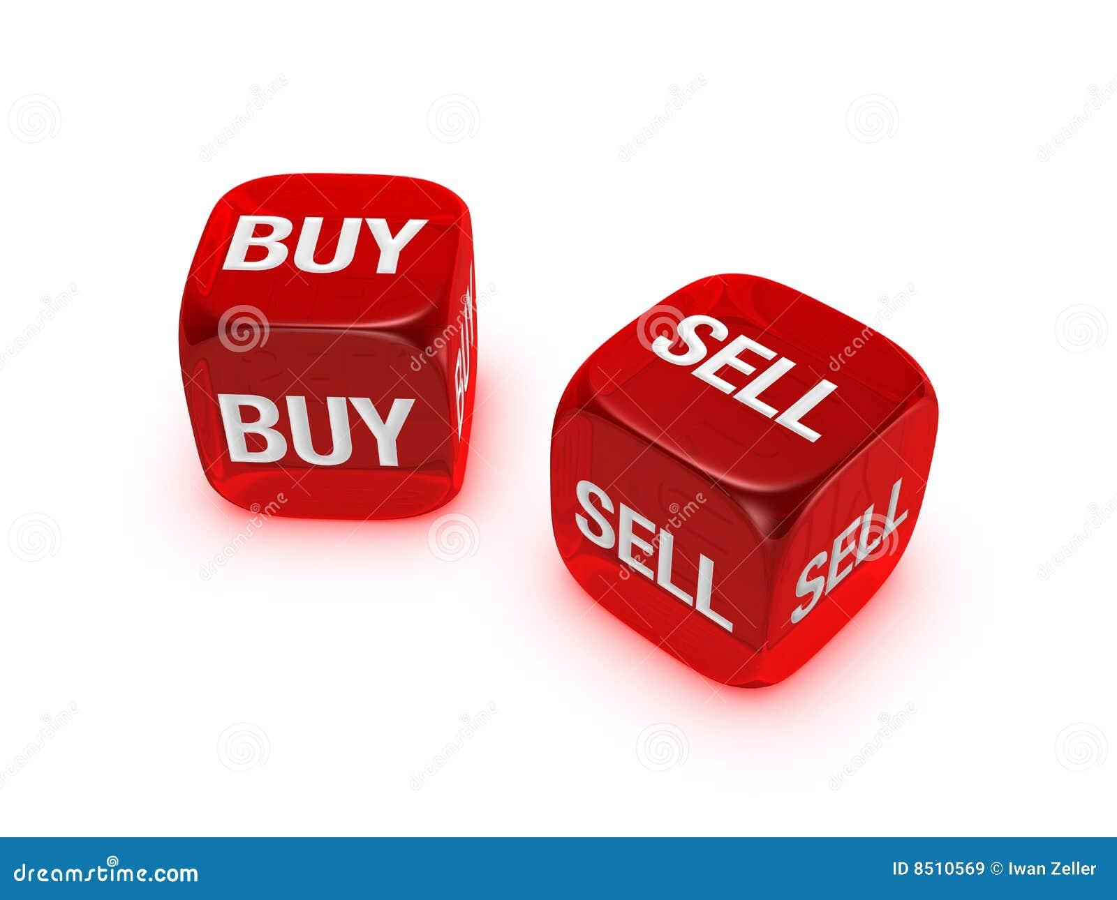 Köp tecknet för sell för tärningpar det genomskinliga röda