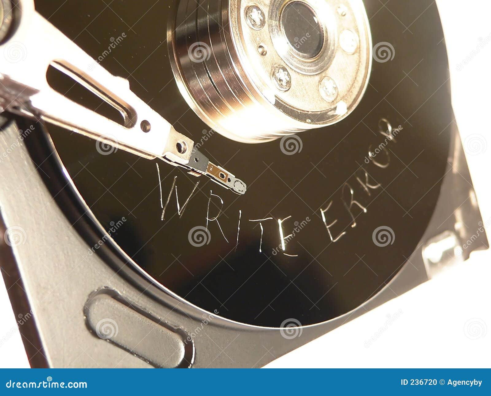 Kör felet som hård skrapad yttersida skriver