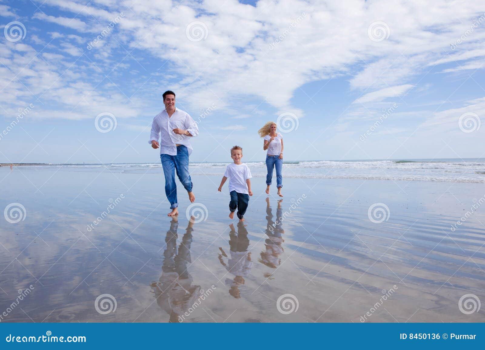 Köra på en strand