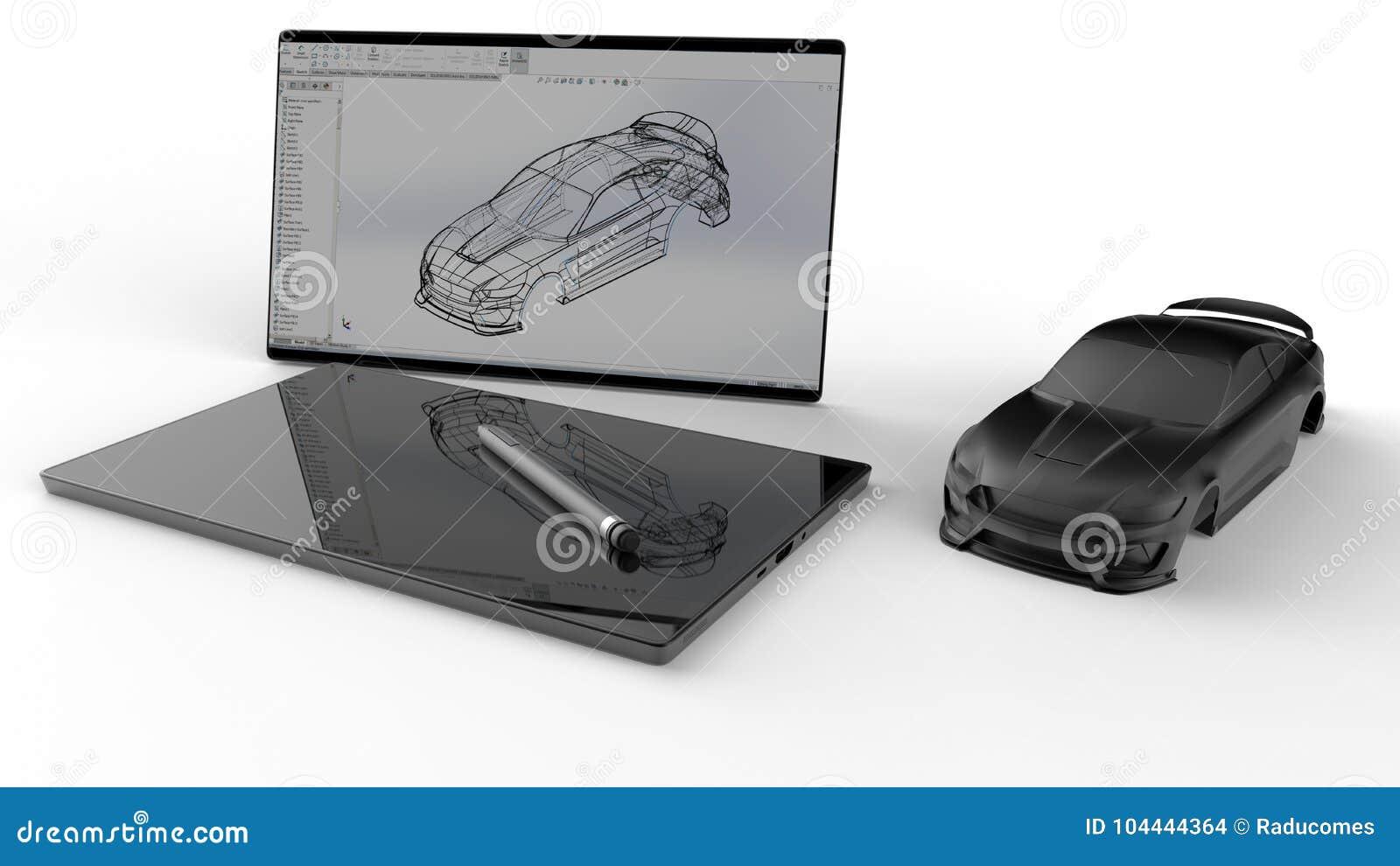 Körper im weiß- AutoKonzept des Entwurfes