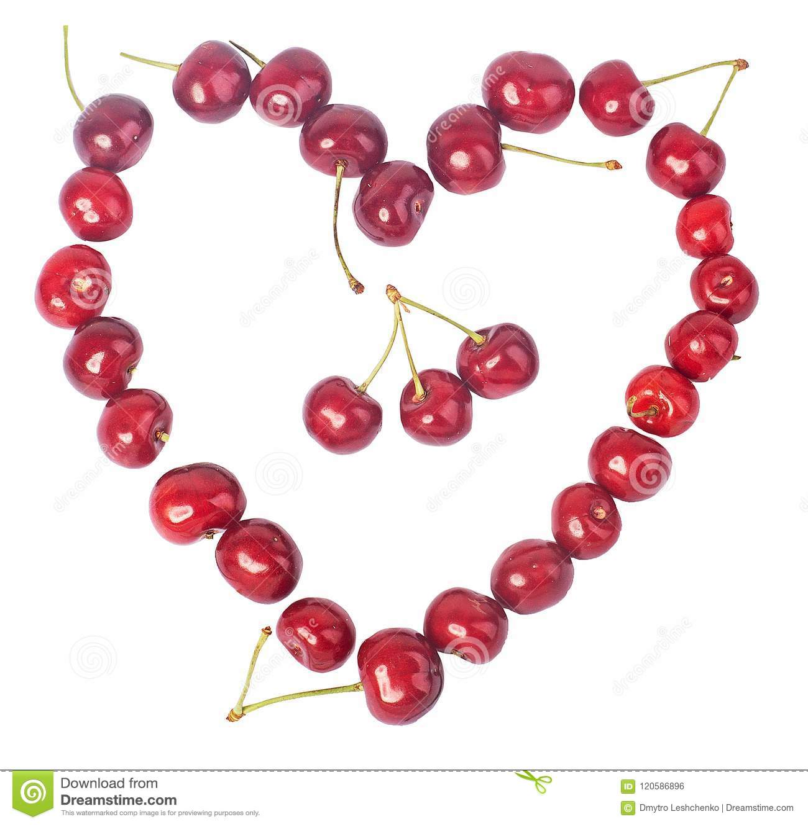 Körsbär många körsbär som är röda