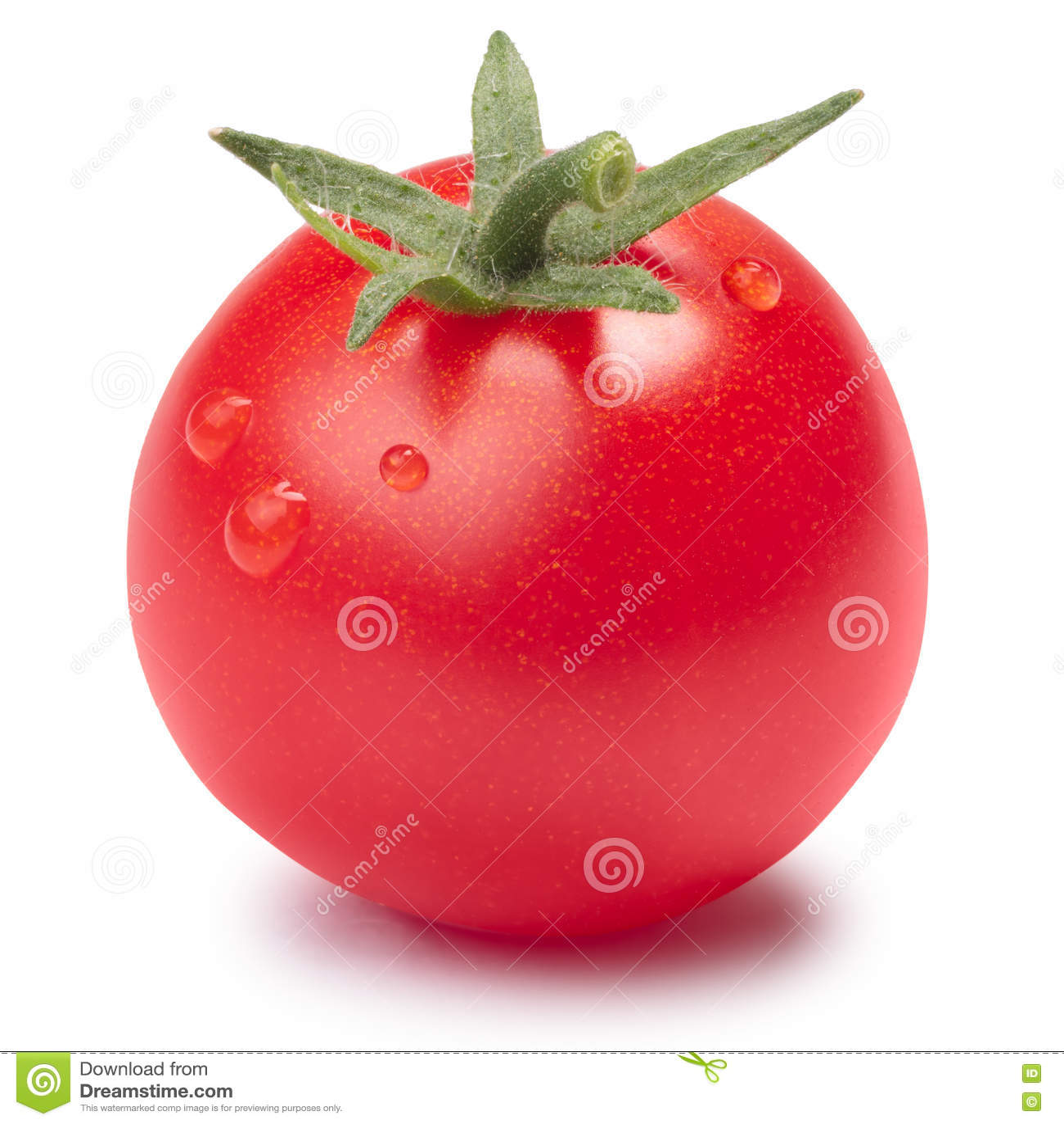 Körsbärsröd tomat (mycket lilla Tom) med foderbladen, banor