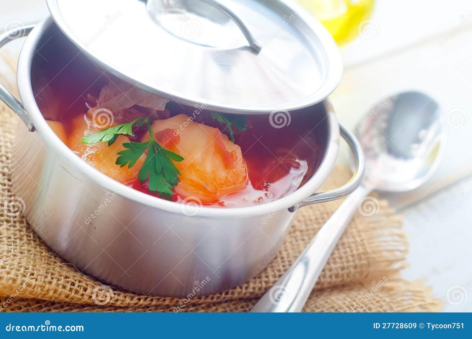 Köstliche Kalbfleischeintopfgerichtsuppe
