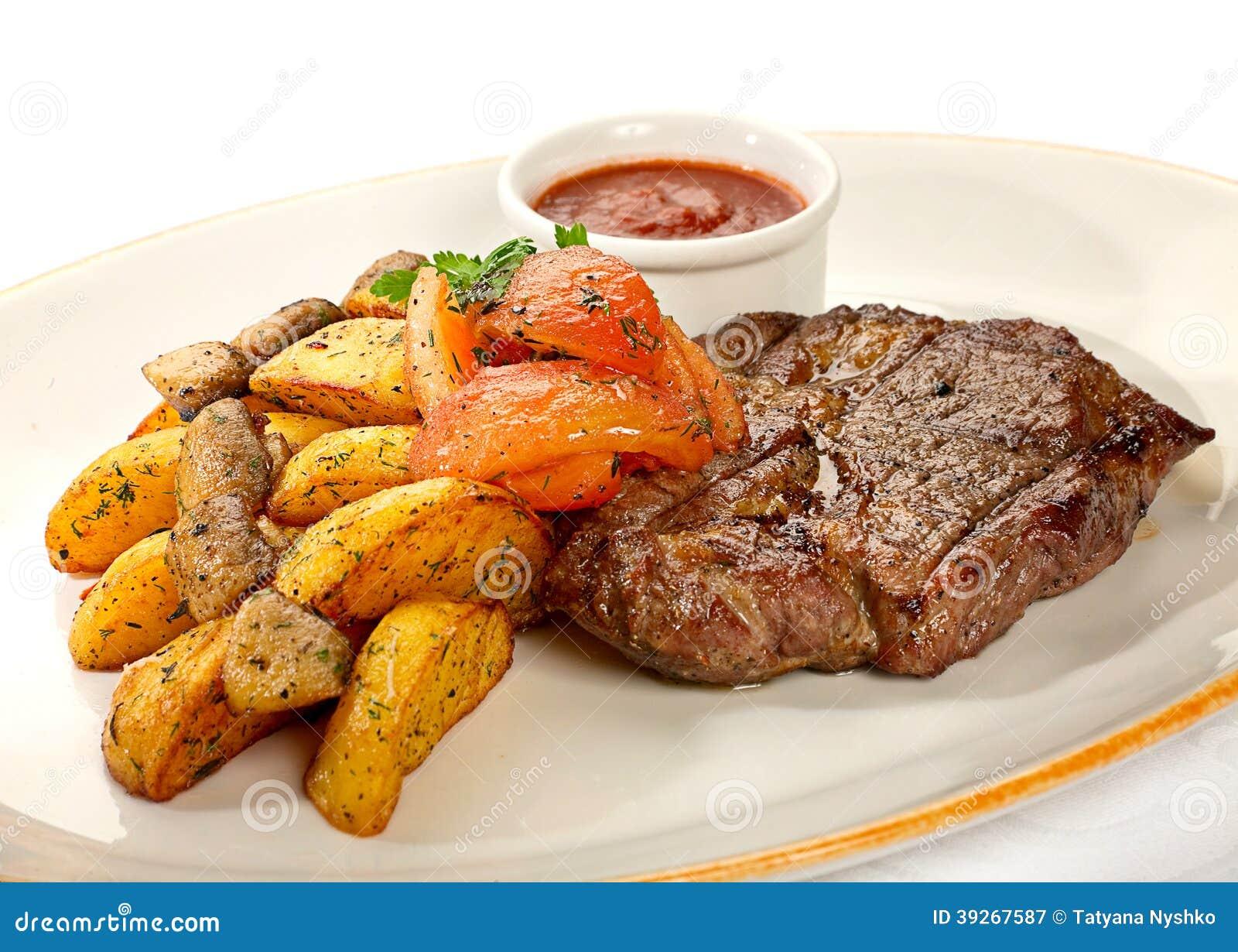 kött och potatis