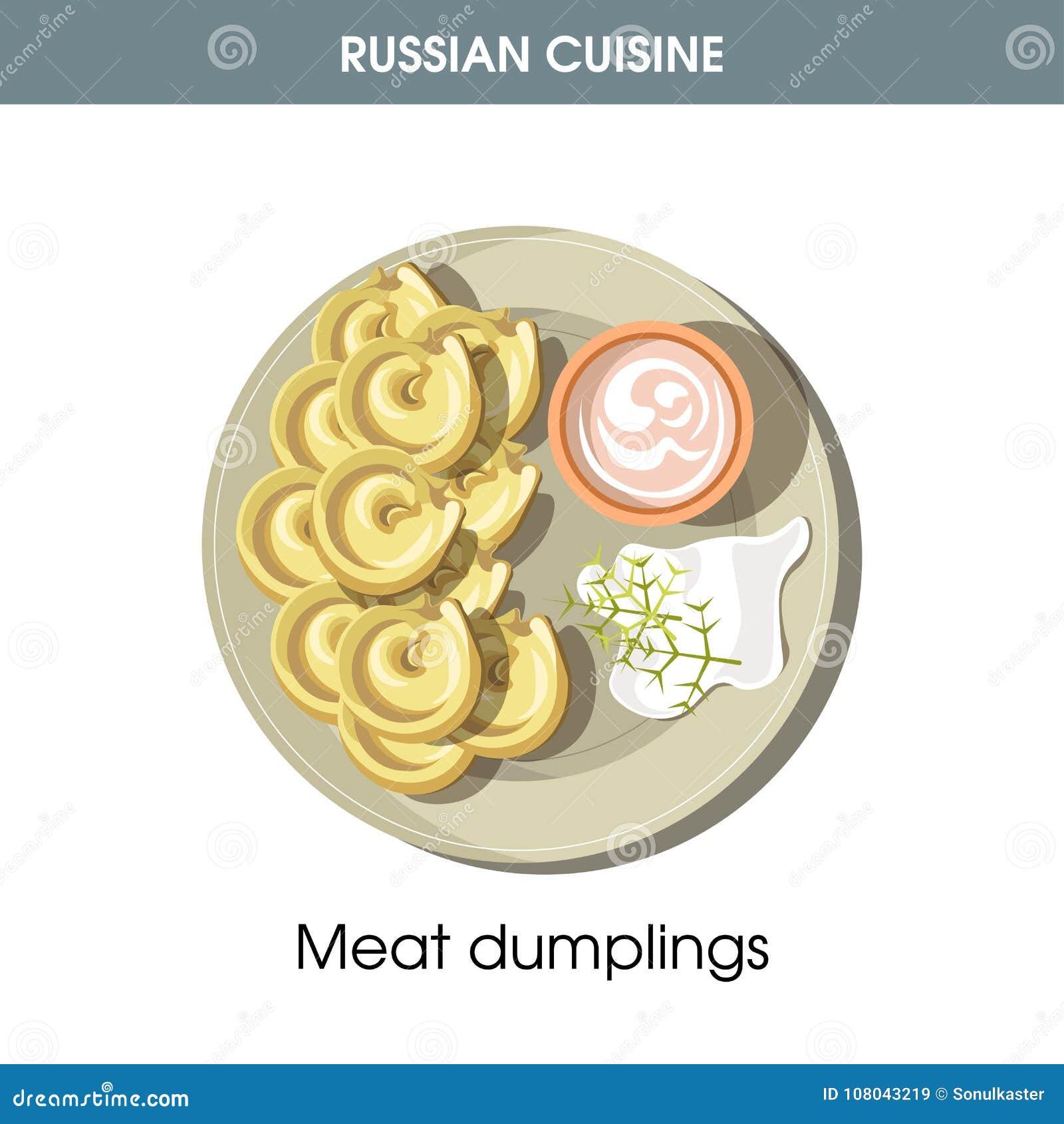 Köttklimpar med gräddfil från rysk kokkonst