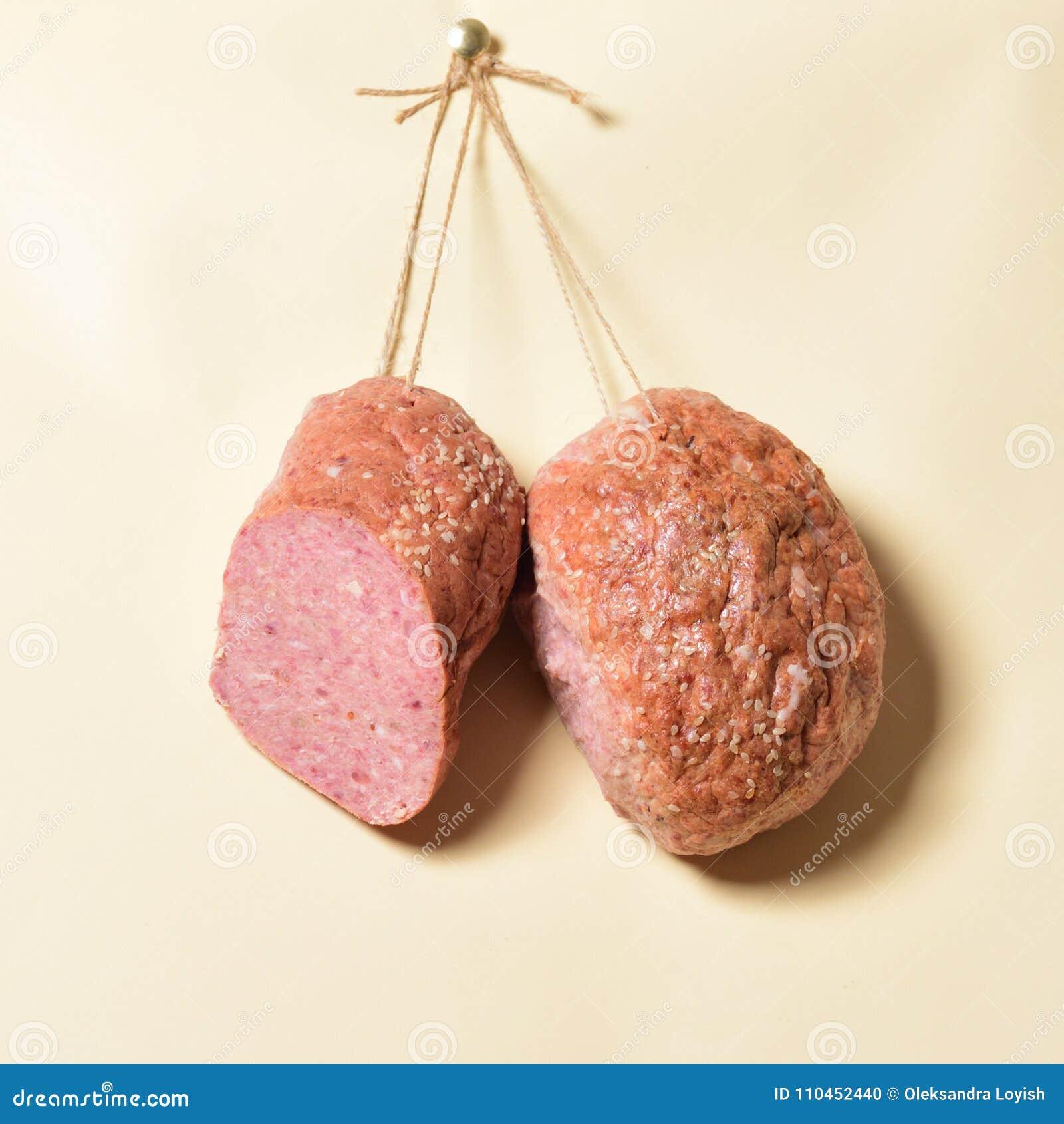 Köttmatvaruaffär på repen