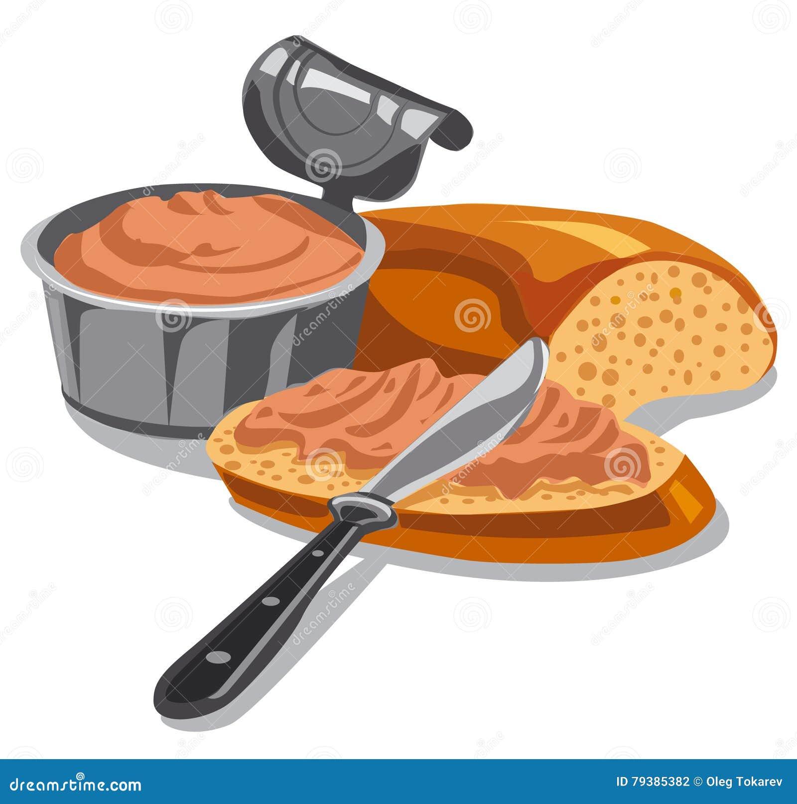 Köttpate på skivat bröd