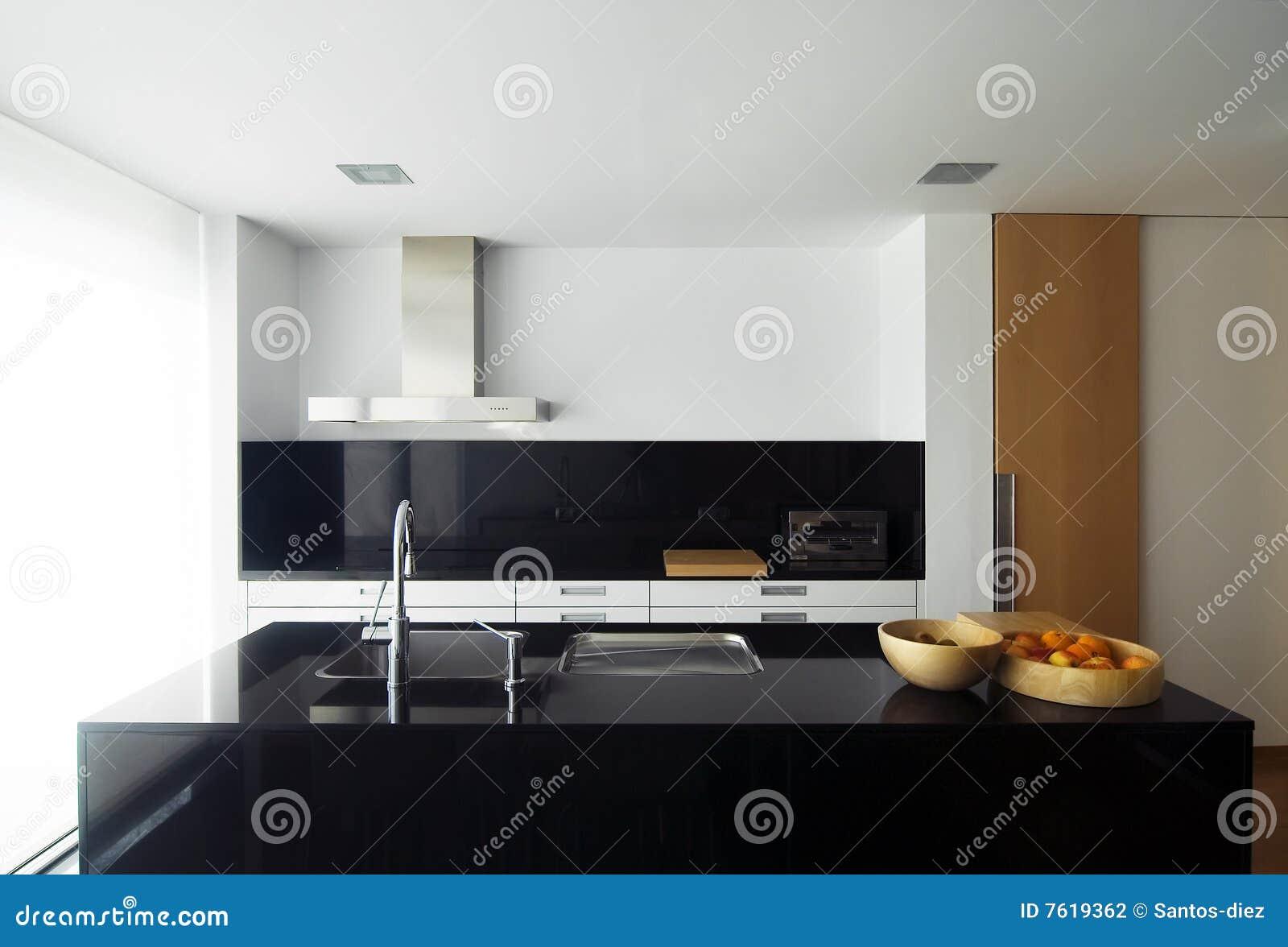 Küche stockfoto. Bild von leuchte, küche, koch, elegant - 7619362