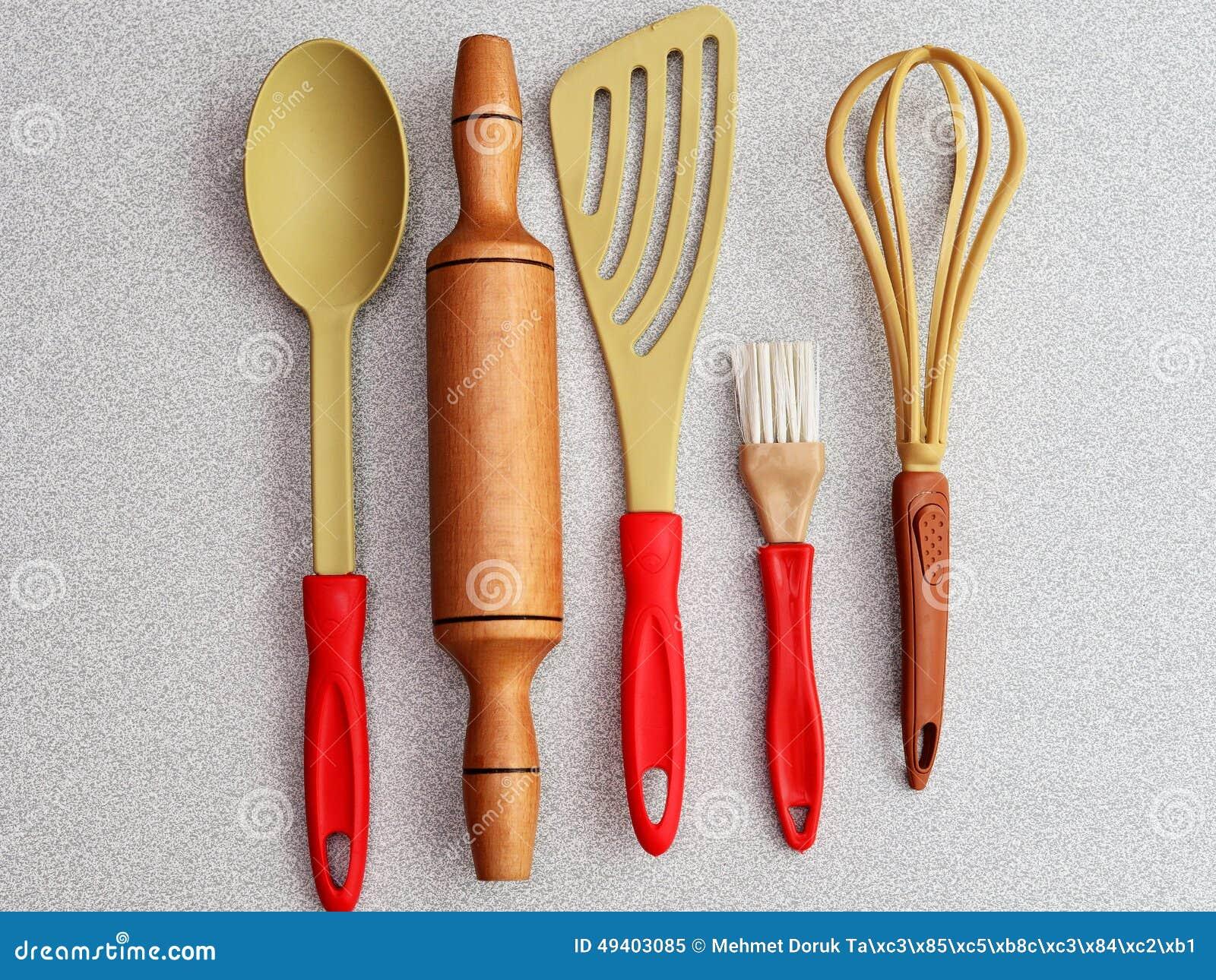 Download Küche-Geräte getrennt stockbild. Bild von nahrung, teller - 49403085