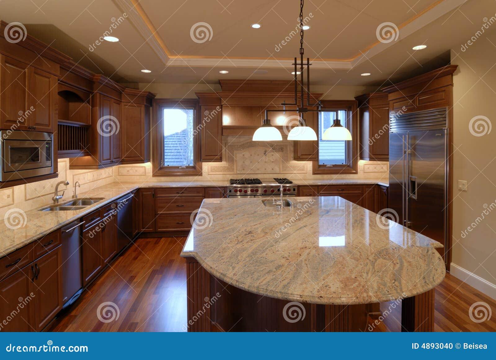 Küche-Insel stockfoto. Bild von amerikanisch, zustand - 4893040