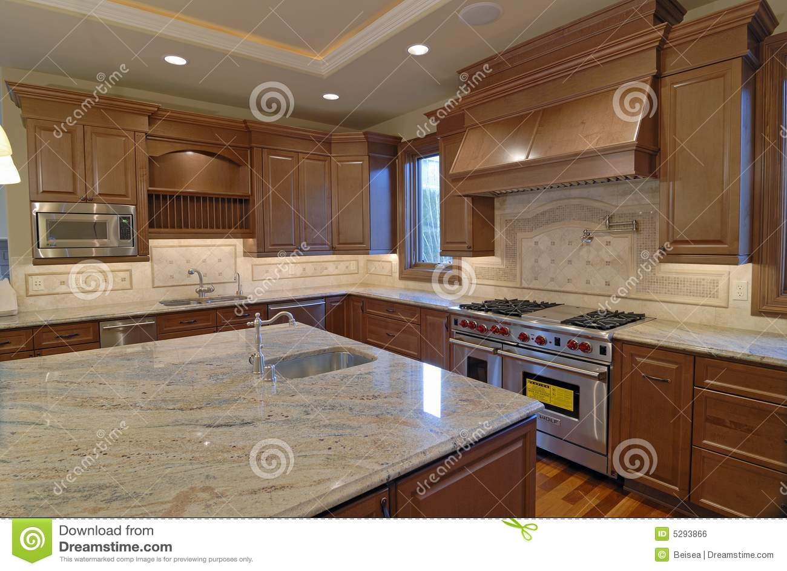 Küche-Insel stockfoto. Bild von marmor, wand, struktur - 5293866