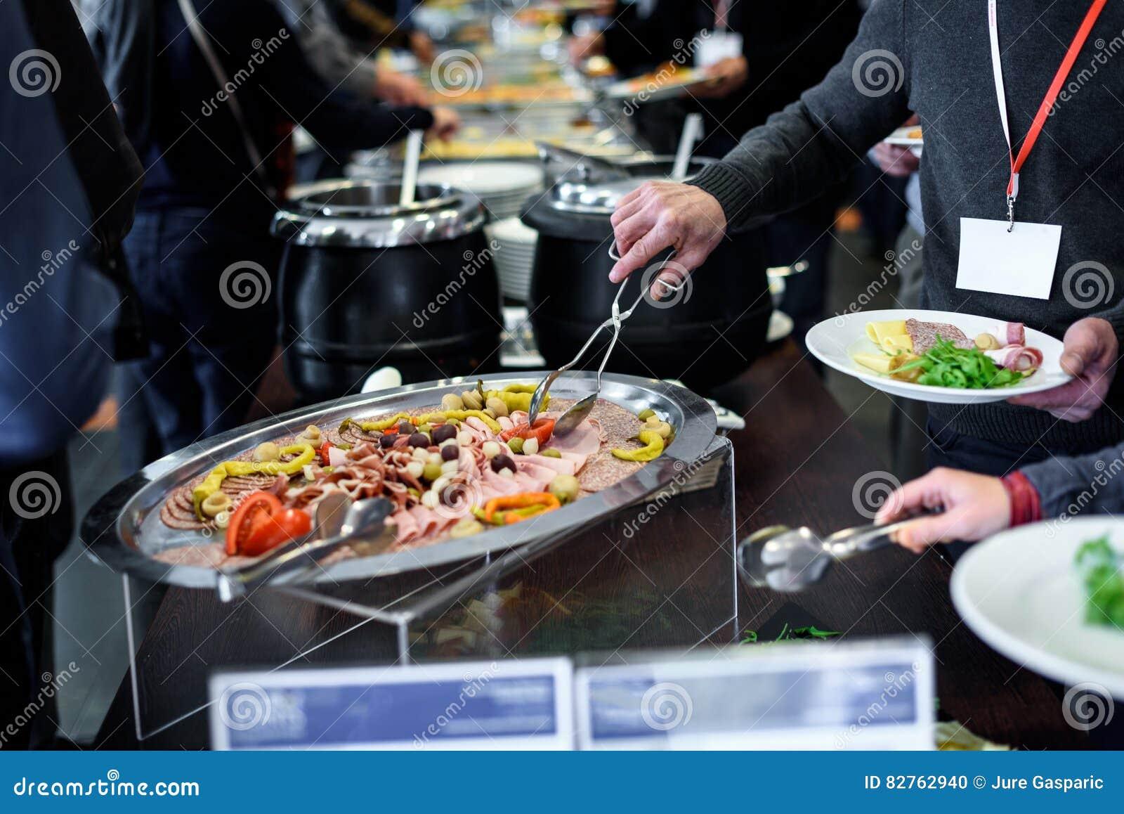 Küche-kulinarische Buffet-Abendessen-Verpflegung, die Lebensmittel-Feier speist