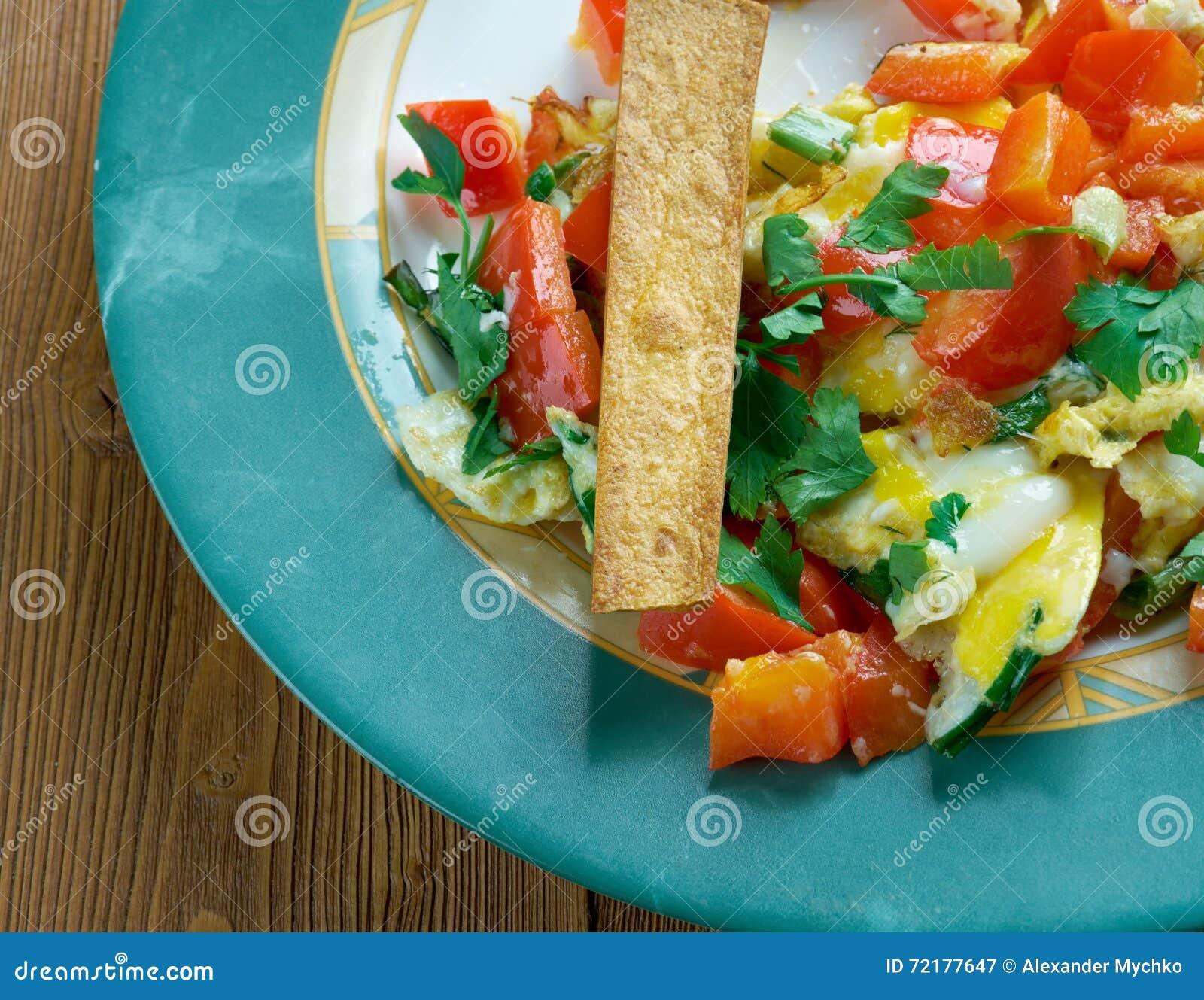 Küche Migas Tex-Mex stockbild. Bild von mais, tomaten - 72177647