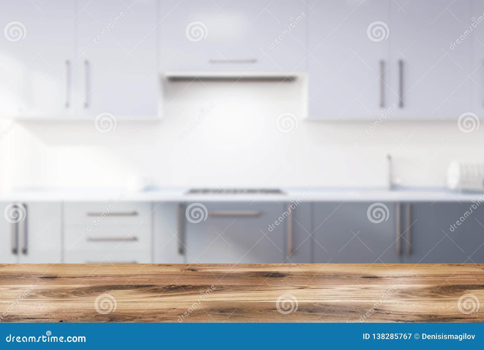 Küche mit grauer Countertopsunschärfe