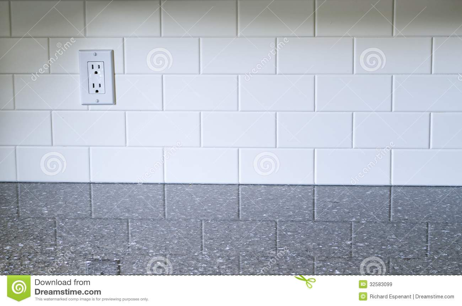 Küchen-Weiß Backsplash