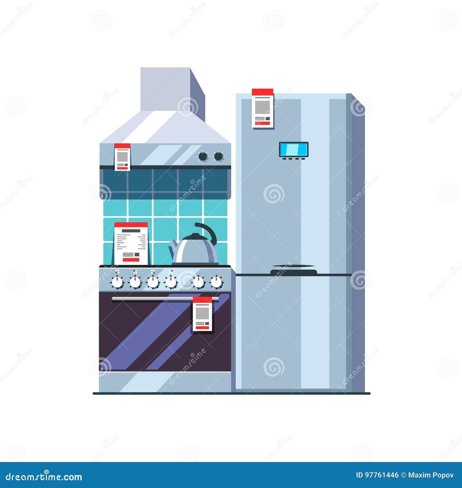 Küchengerätspeicher Einzelhandelkonzept