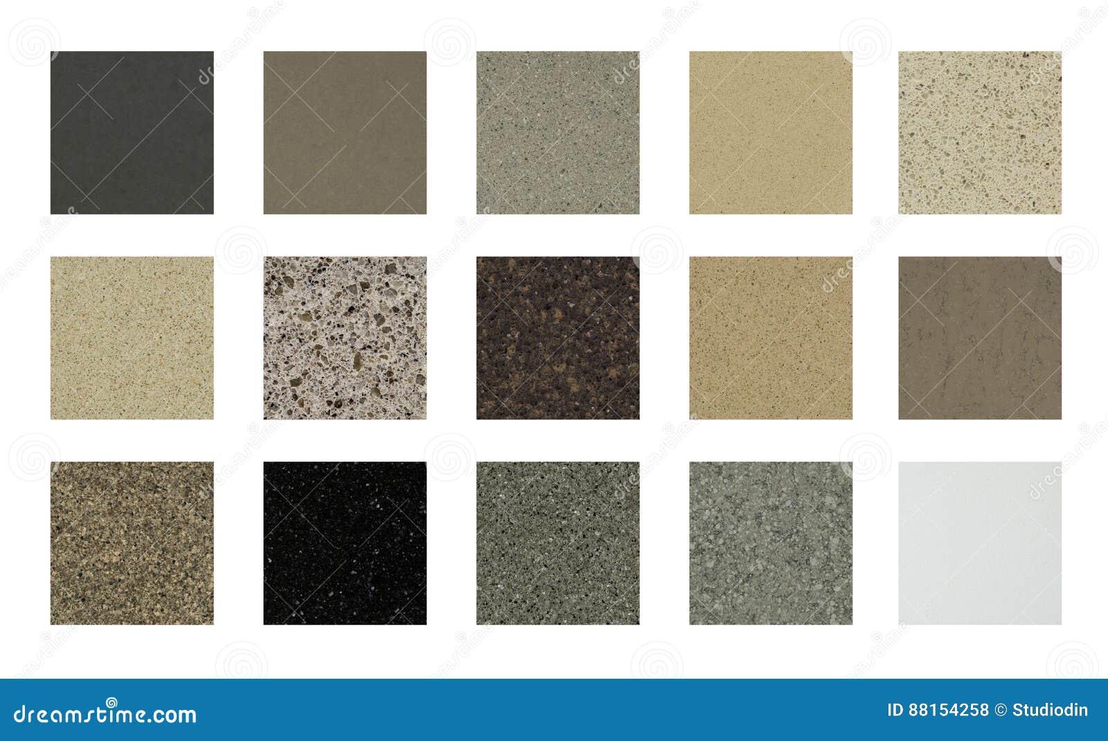 Top Küchengranit-Gegenspitzen-Farbproben Stockfoto - Bild von worktops UN07